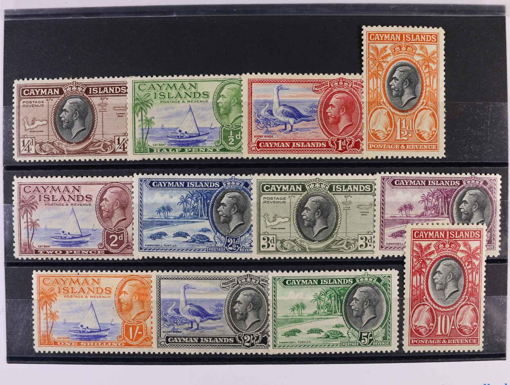 Cayman Islands - zn. Mi. č. 86 - 97 v hodnotách 1/4pence - 10Sch, 260 EUR