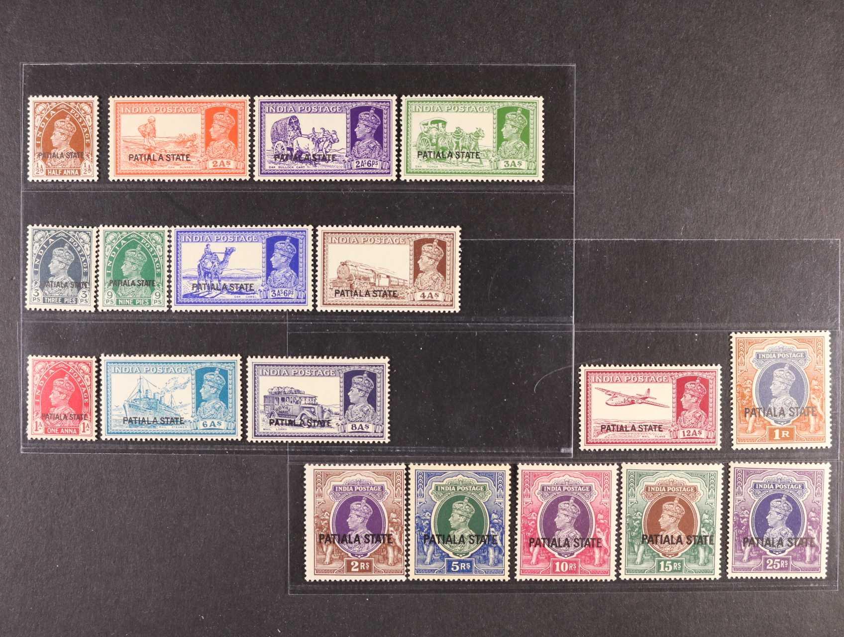 Indie - Patiala State - zn. SG č. 80 - 97, 750+ Liber