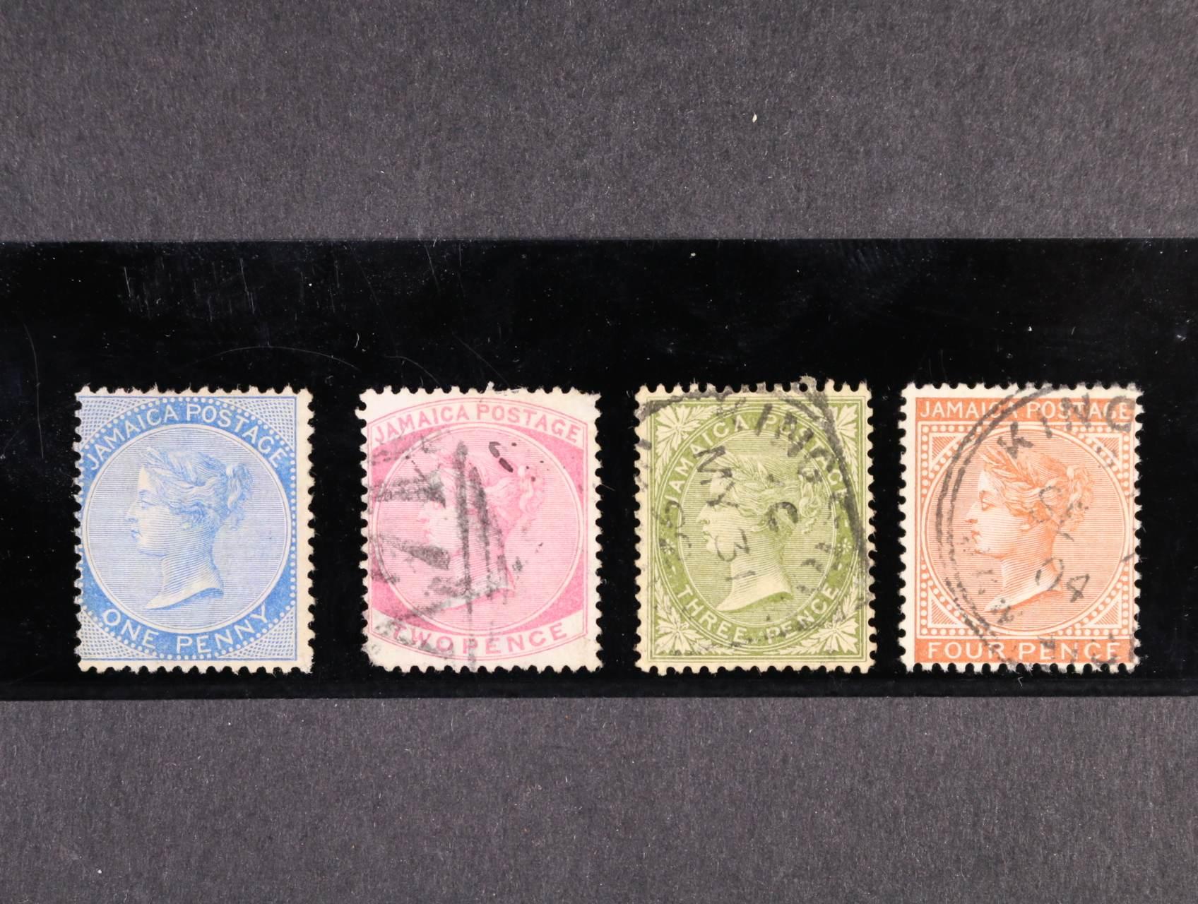 Jamaika - zn. Mi. č. 1 - 4, cca 200 EUR