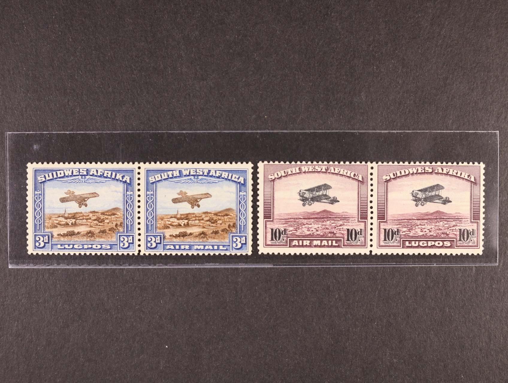 Jihozápadní Afrika - zn. Mi. č. 164 - 5, 166 - 7,  ve vodorovných párech