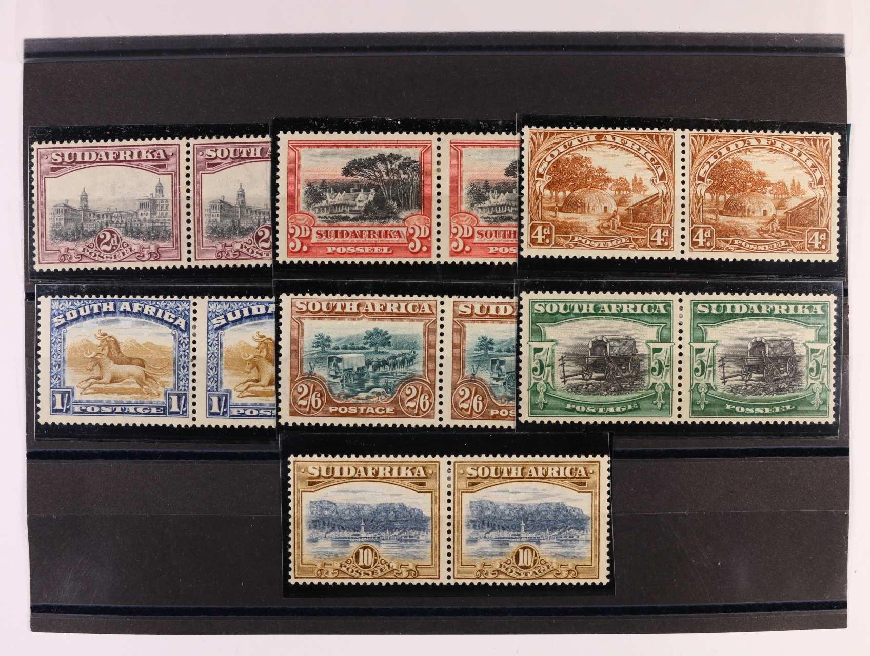Jižní Afrika - zn. Mi. č. 29 - 42 ve vodorovných párech, 850 EUR