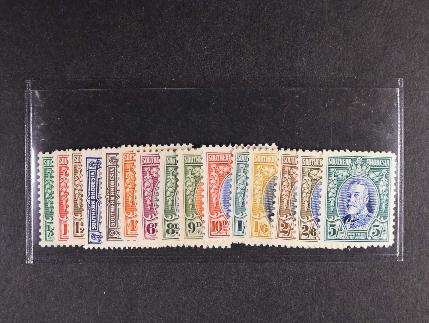 Jižní Rhodesia - zn. Mi. č. 15 - 29, 380 EUR