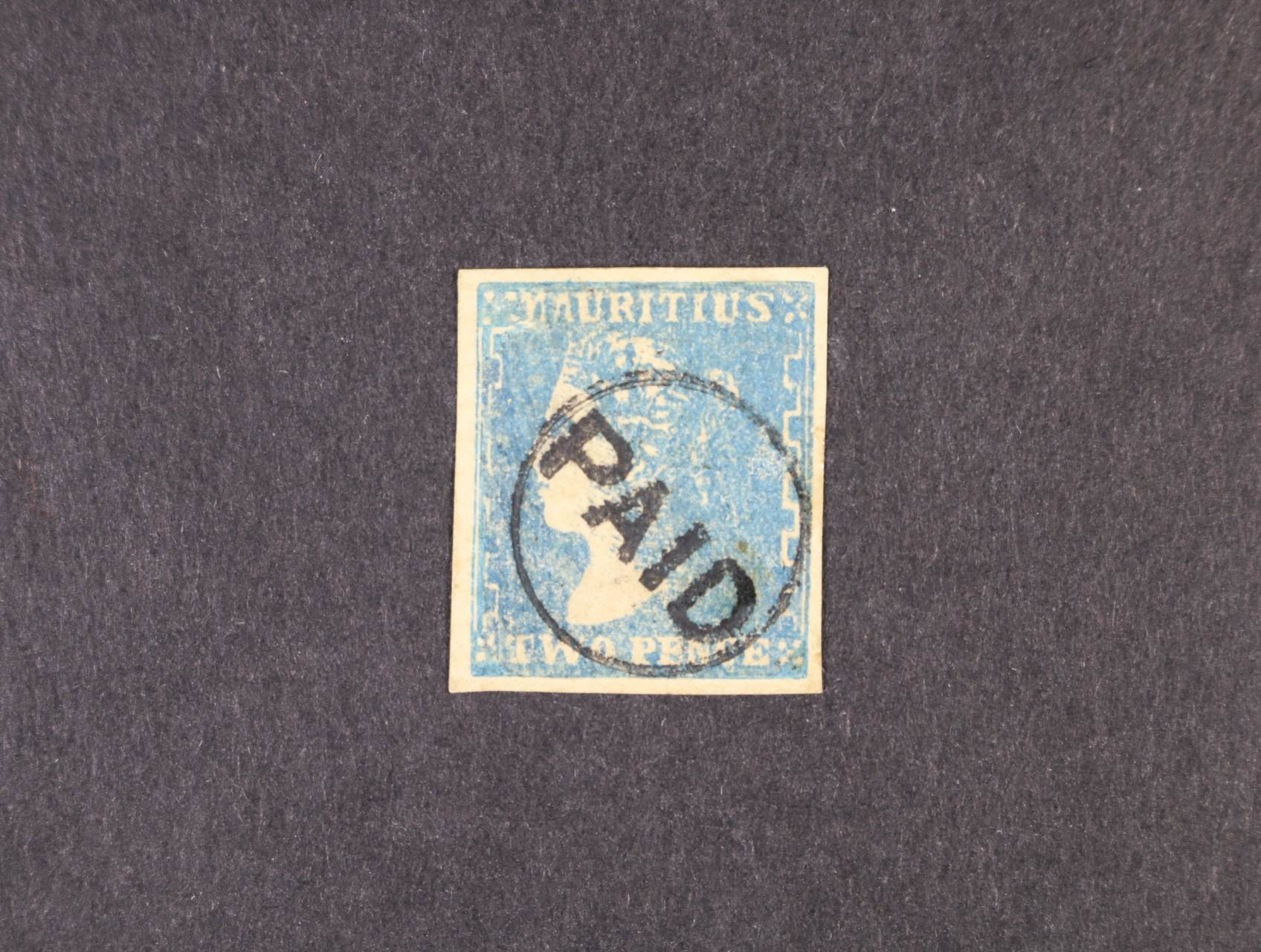 Mauritius  1859 - zn. SG.43, Modrý Mauritius 2P