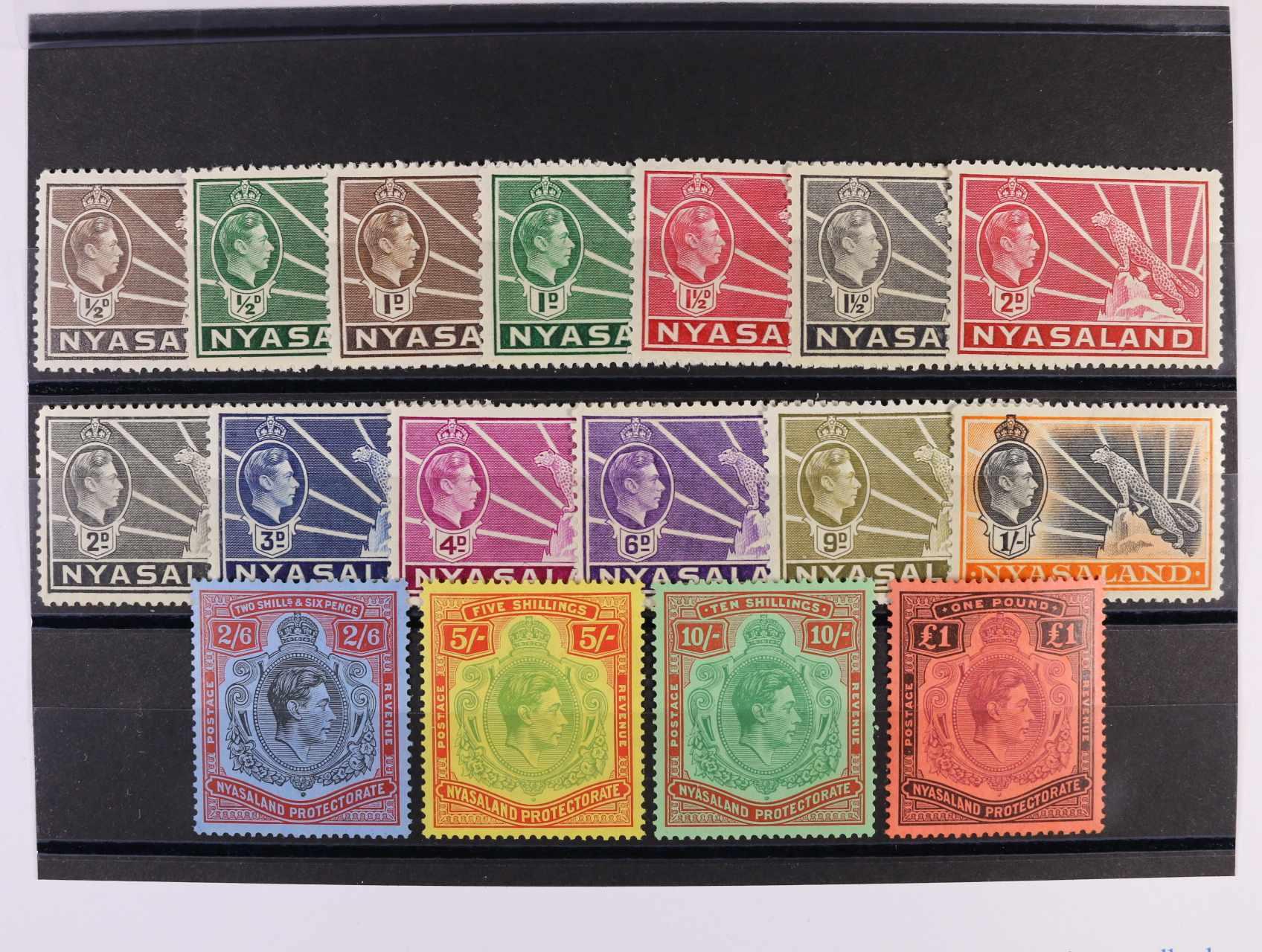 Nyasaland - Mi. č. 52 - 69, 120 EUR, dobrá kvalita