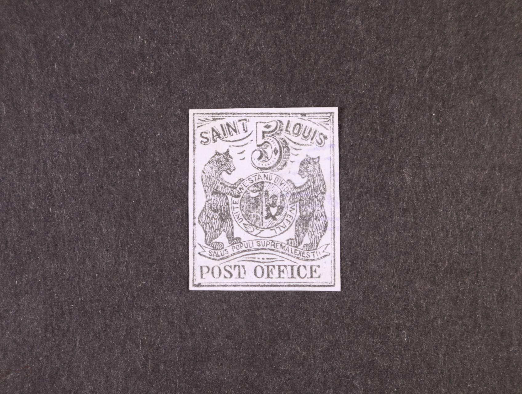 USA - Saint Louis - zn. Yver č. 7, sign. Calves, zajímavé, vzácné, 8000 EUR