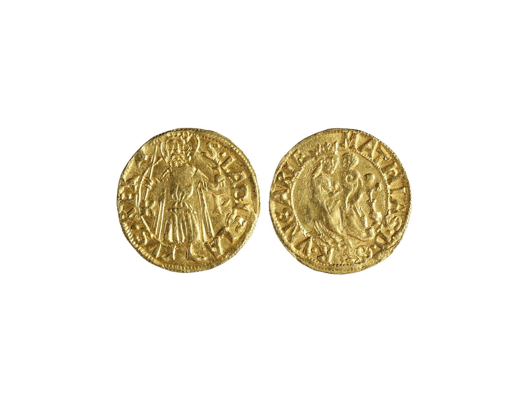 Matyáš Korvín 1469-1490 - Dukát K.P. b.l. mincovna Kremnice, 3,54g