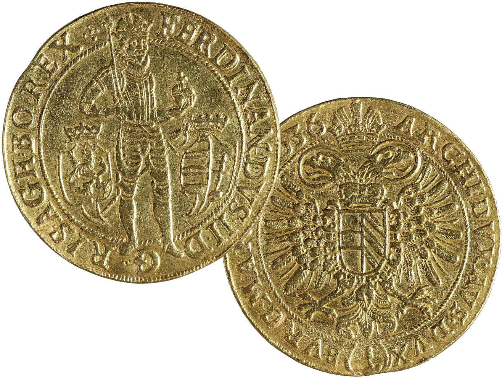 Ferdinand II. 1619-1637 - 10 Dukát 1636 Praha, Schuster, 34,21g, Hal. 713, na hraně stopa po zasazení, ex. aukce Rauch 65/2000, vzácný