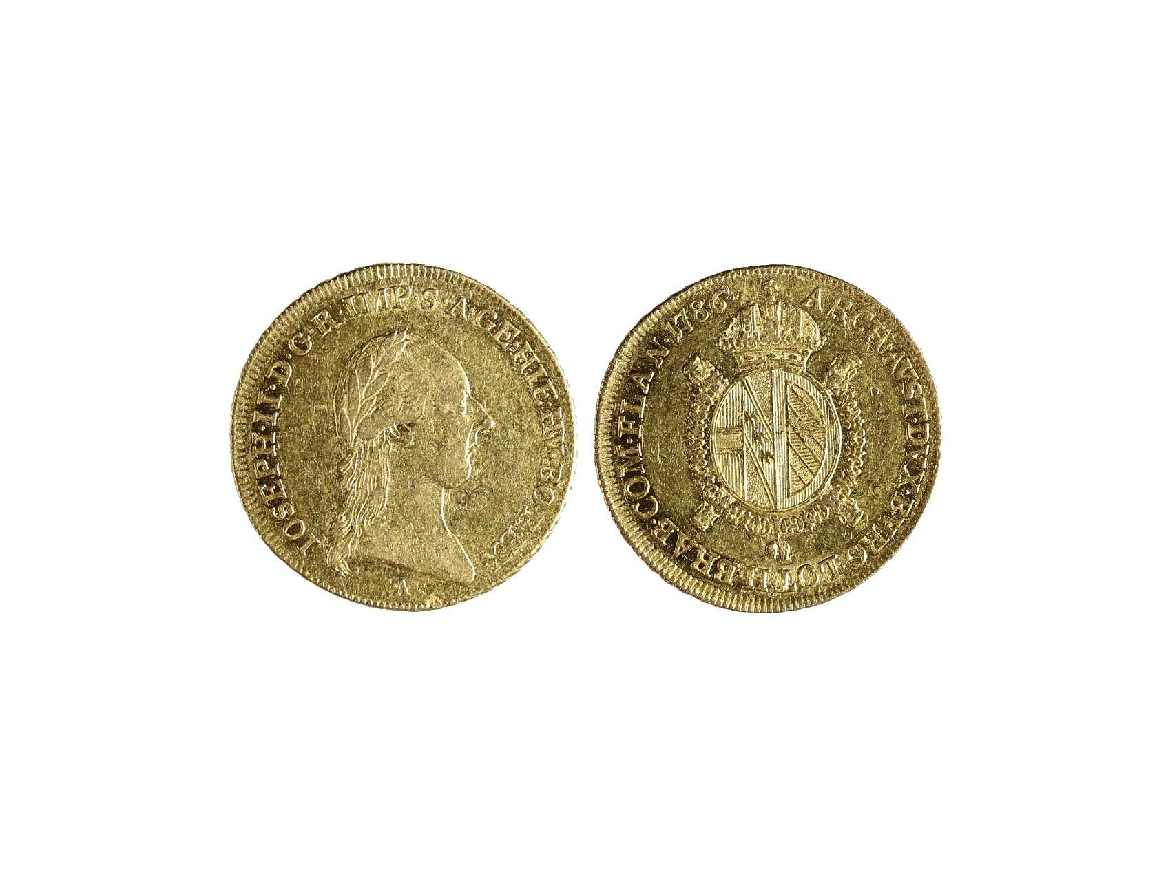 Josef II. 1765-1790 - 1/2 Sovráno 1786 A, N60