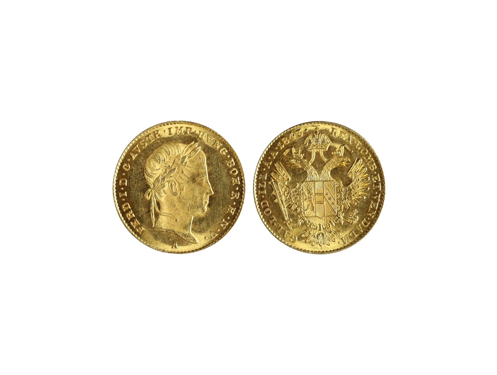 Ferdinand V. 1835-1848 - Dukát 1843 A, N44