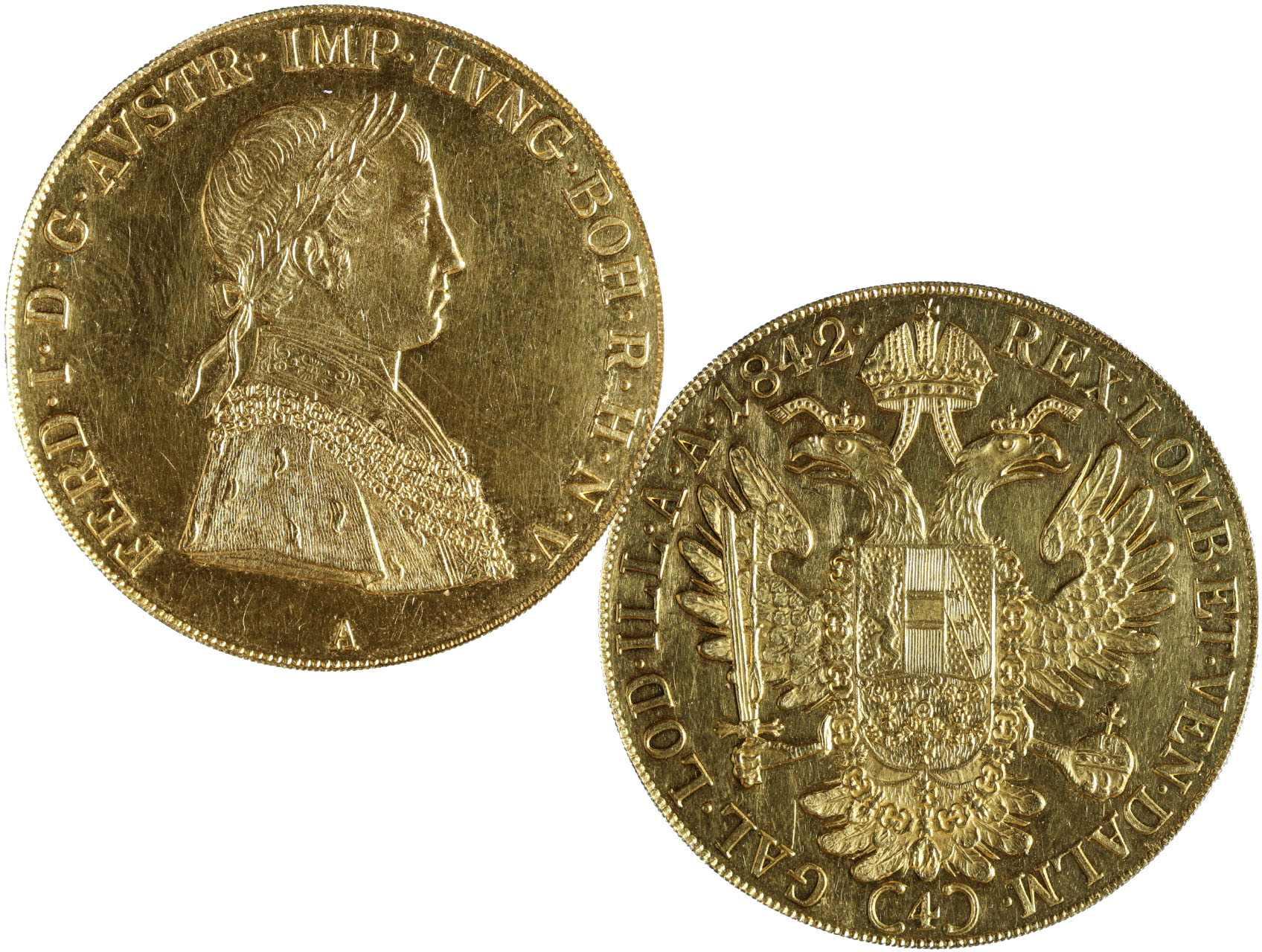 Ferdinand V. 1835-1848 - 4 Dukát 1842 A, N46