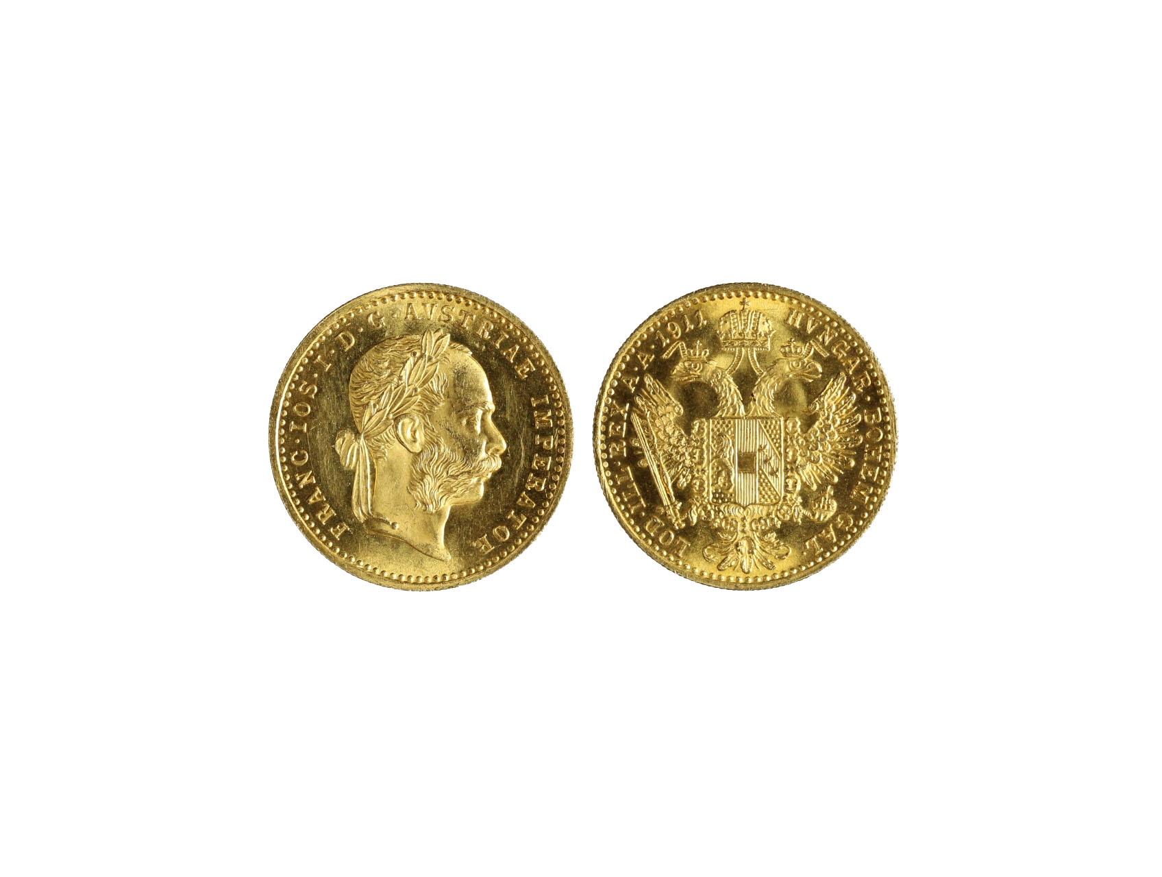 František Josef I. 1848-1916 - Dukát 1911, N110, téměř RL