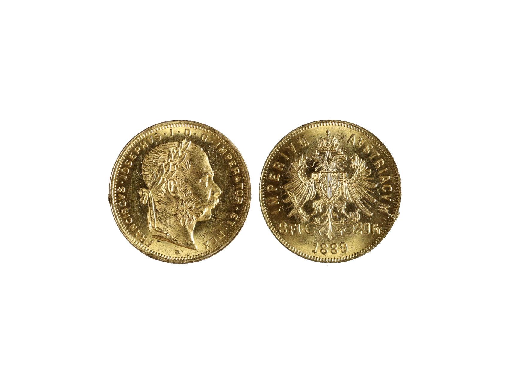 František Josef I. 1848-1916 - 8 Zlatník 1889, N126
