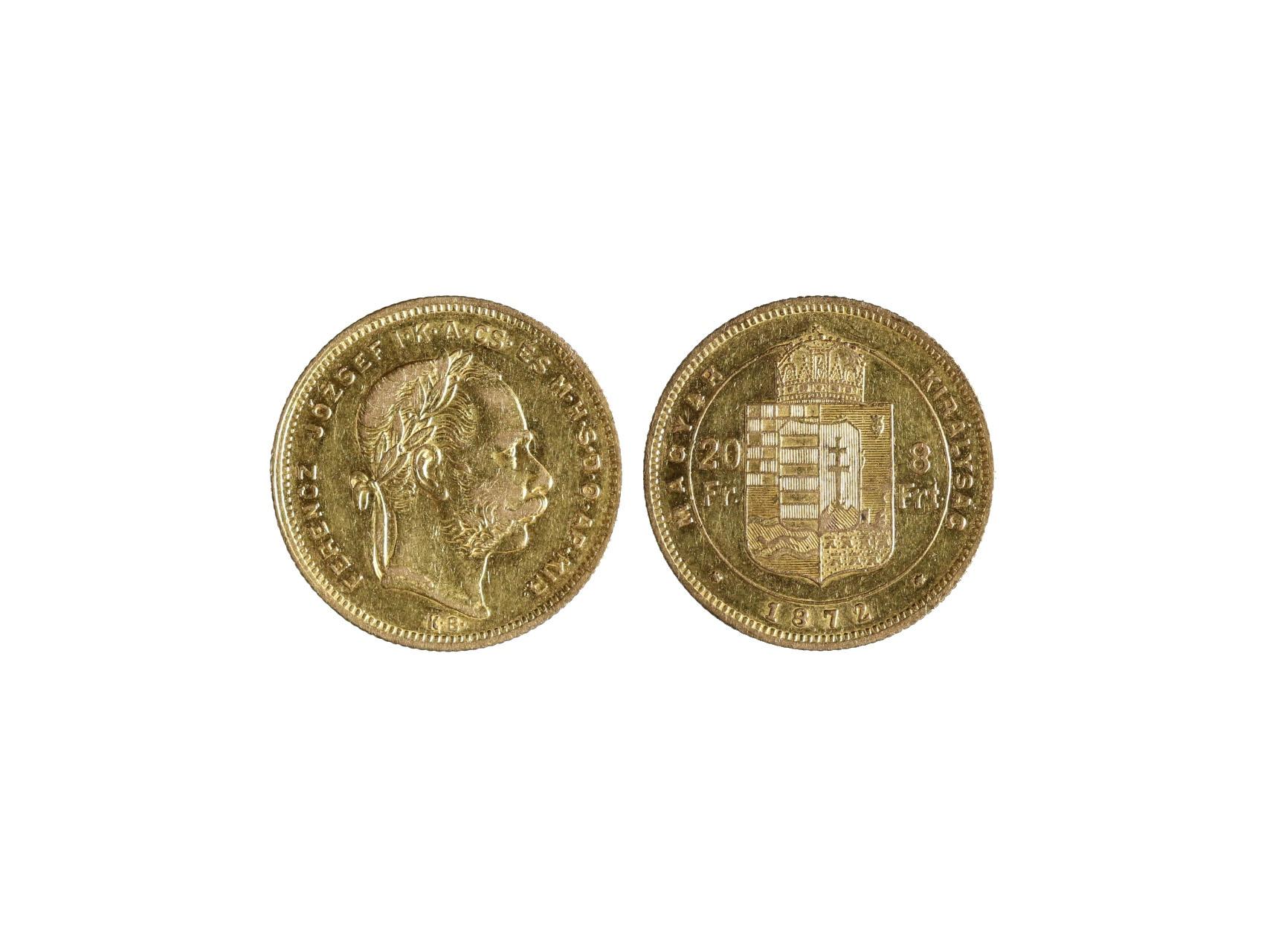 František Josef I. 1848-1916 - 8 Zlatník 1872 K.B., N127