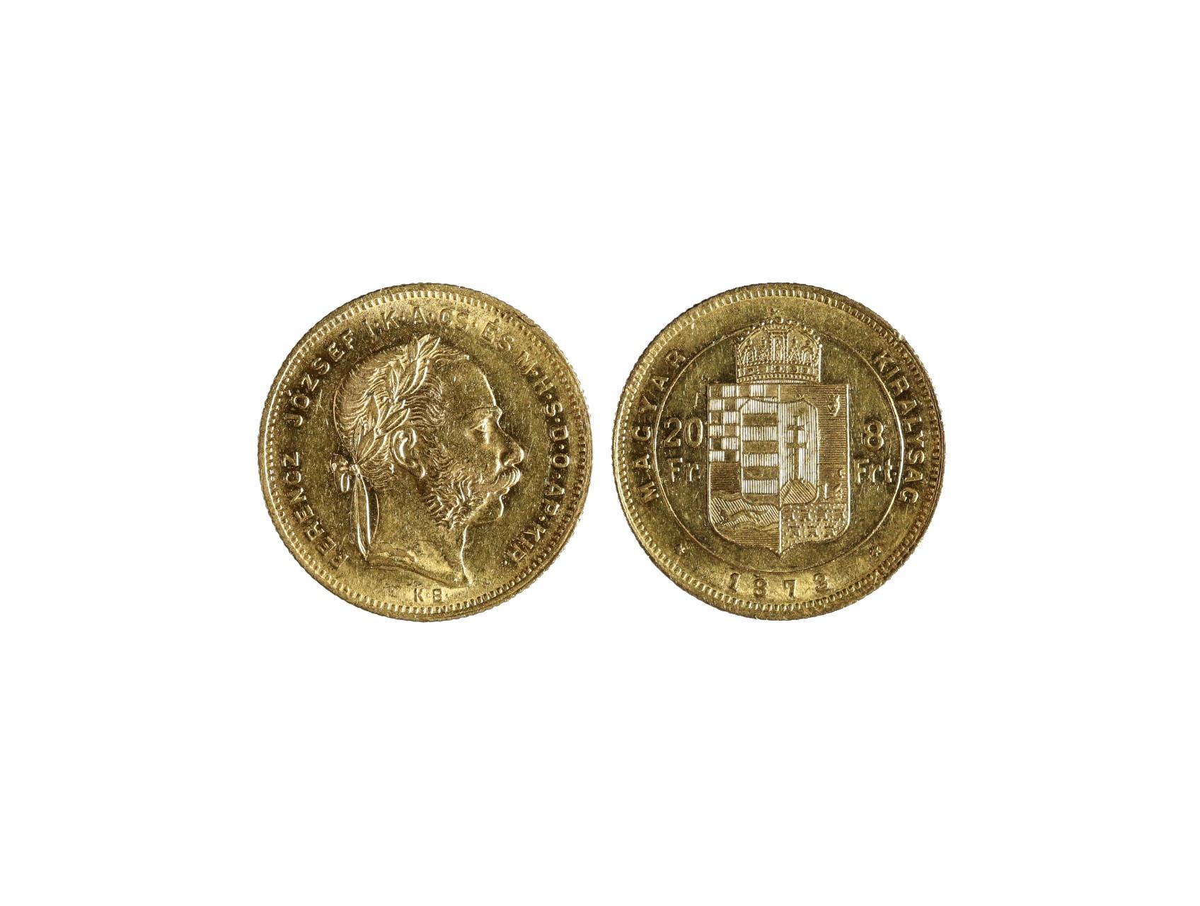 František Josef I. 1848-1916 - 8 Zlatník 1873 K.B., N127