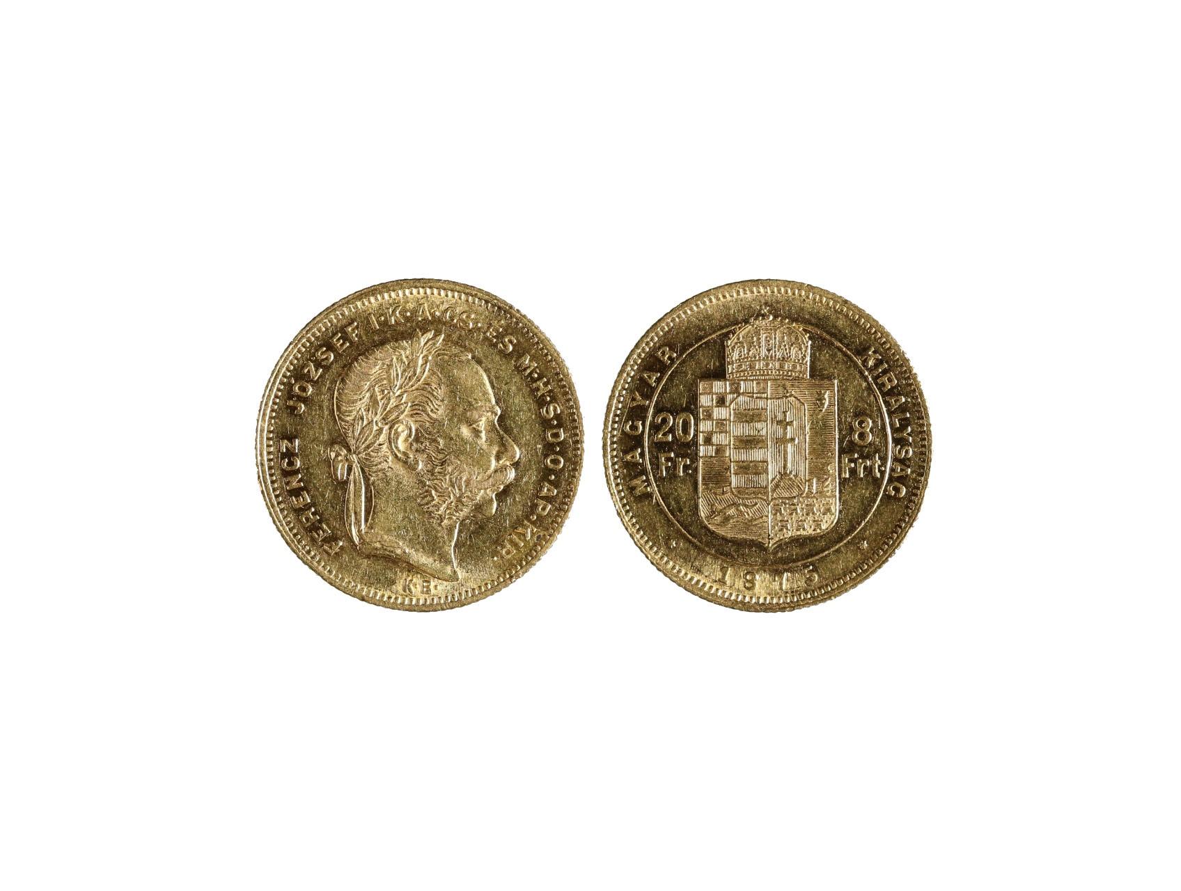 František Josef I. 1848-1916 - 8 Zlatník 1875 K.B., N127