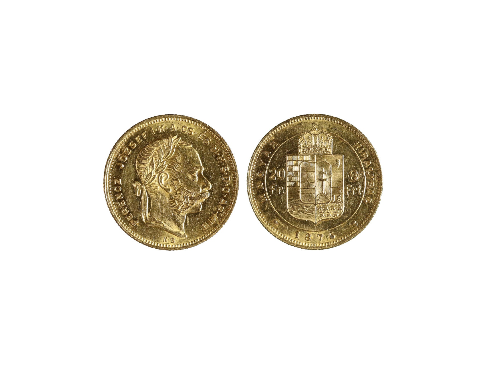 František Josef I. 1848-1916 - 8 Zlatník 1876 K.B., N127