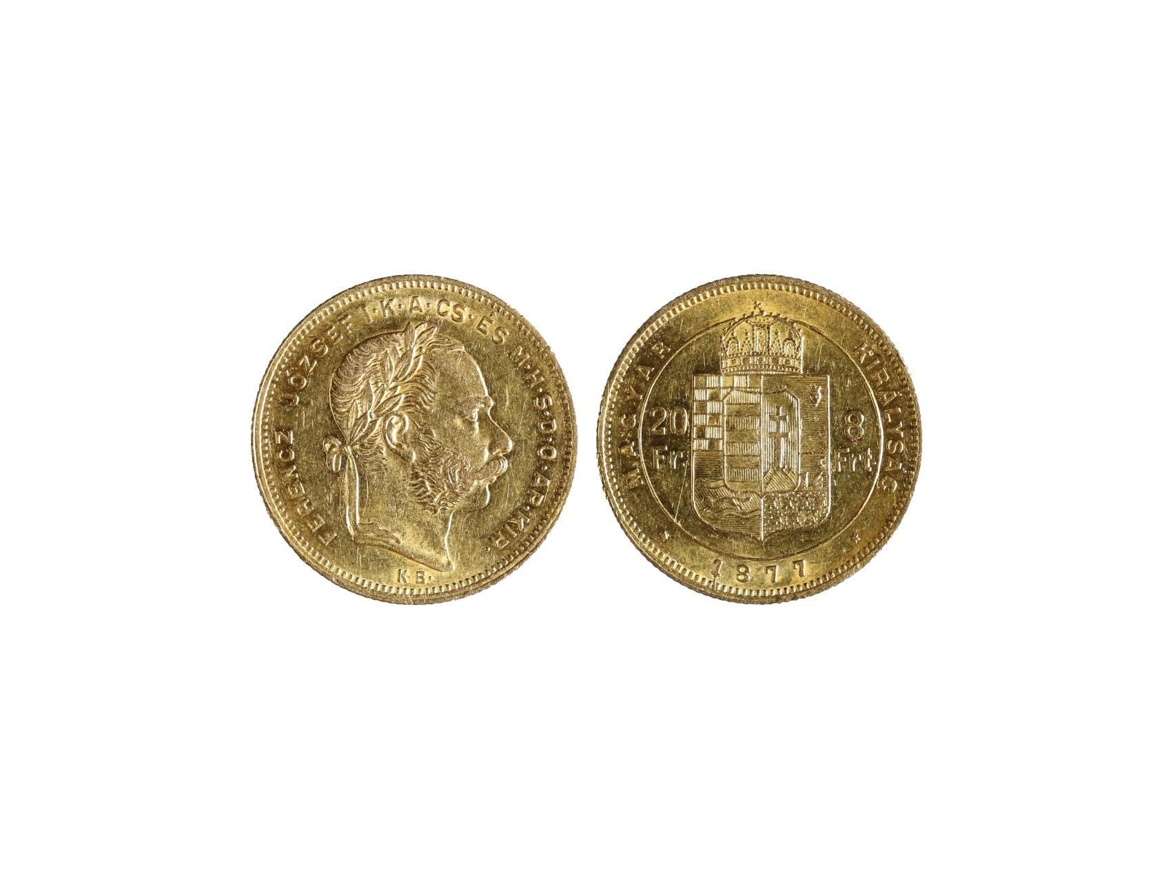 František Josef I. 1848-1916 - 8 Zlatník 1877 K.B., N127