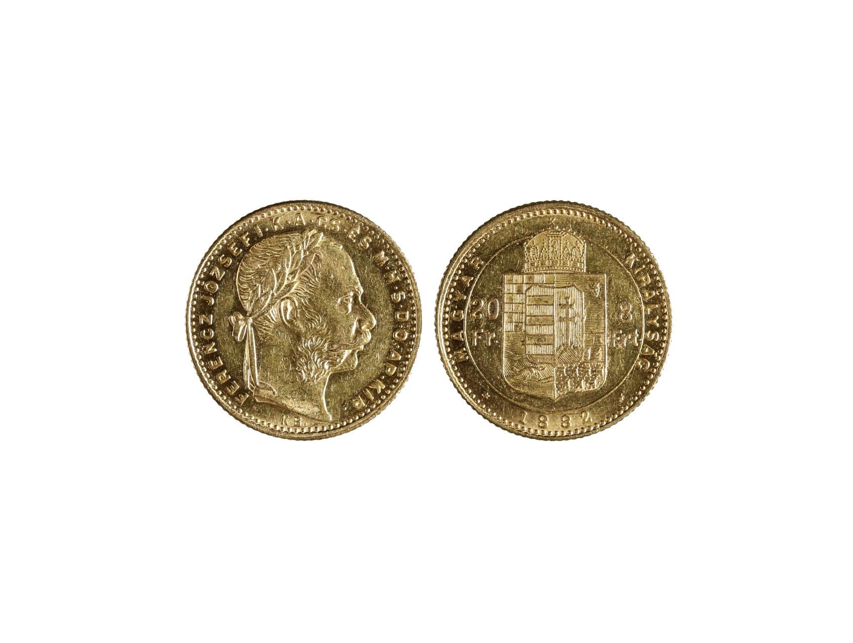 František Josef I. 1848-1916 - 8 Zlatník 1882 K.B., N128