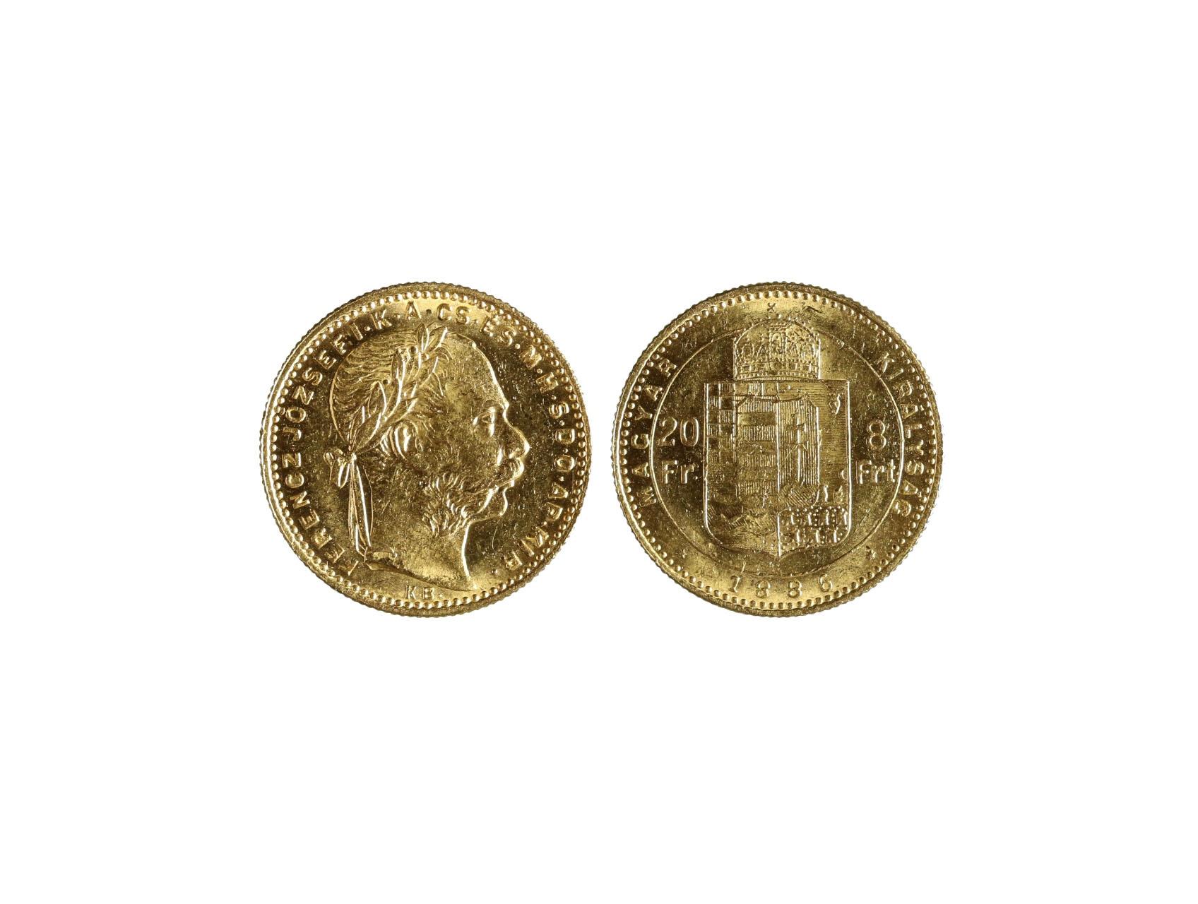 František Josef I. 1848-1916 - 8 Zlatník 1886 K.B., N128