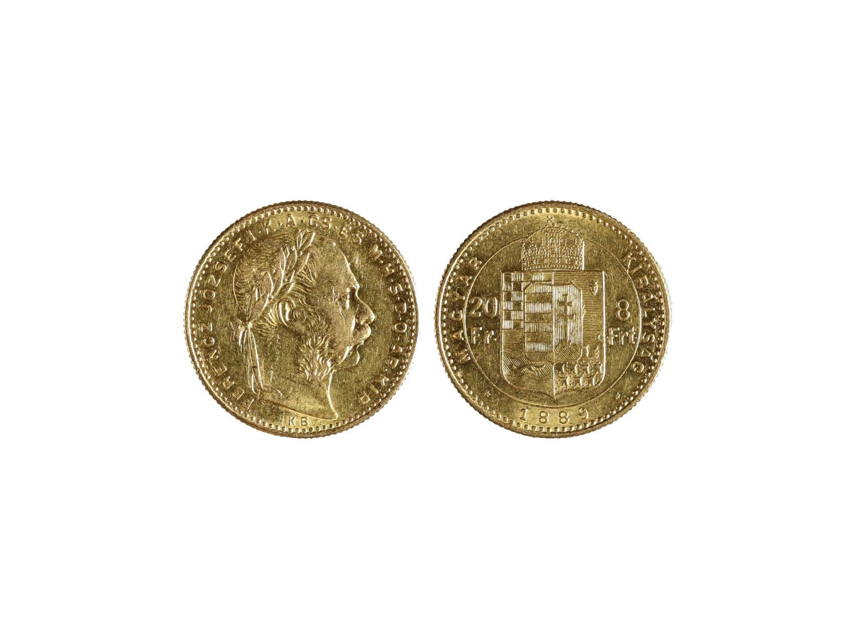 František Josef I. 1848-1916 - 8 Zlatník 1889 K.B., N128