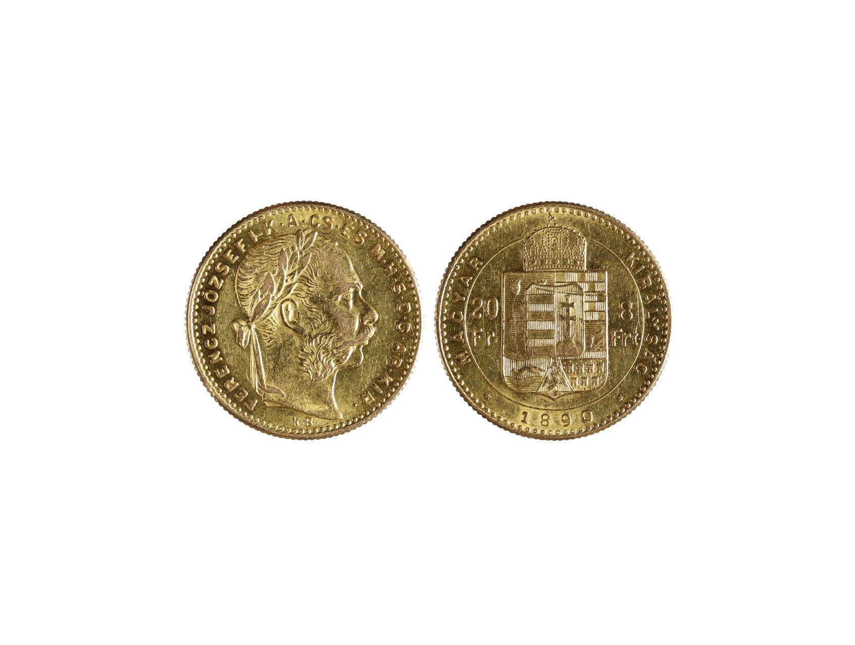 František Josef I. 1848-1916 - 8 Zlatník 1890 K.B se znakem Fiume, N129