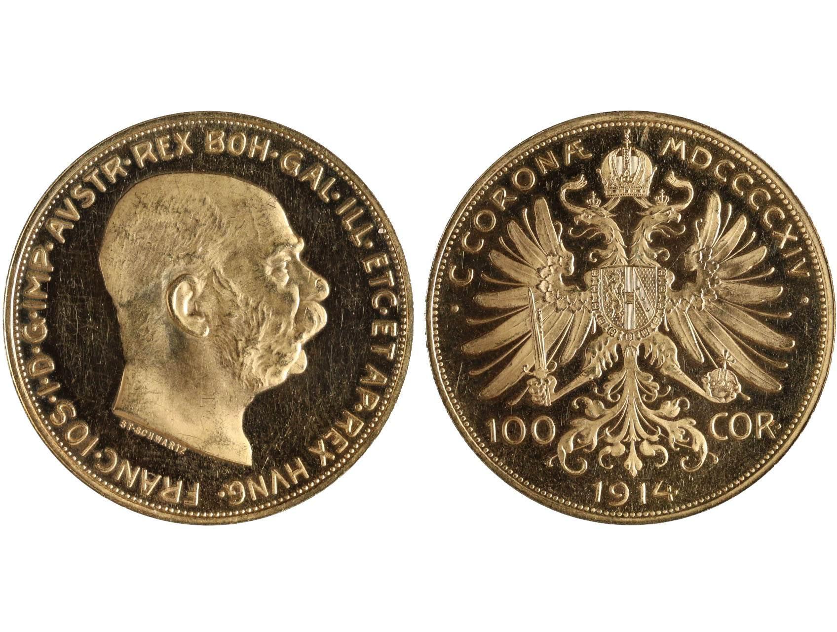 František Josef I. 1848-1916 - 100 Koruna 1914, raženo pouze 1195 ks., N140