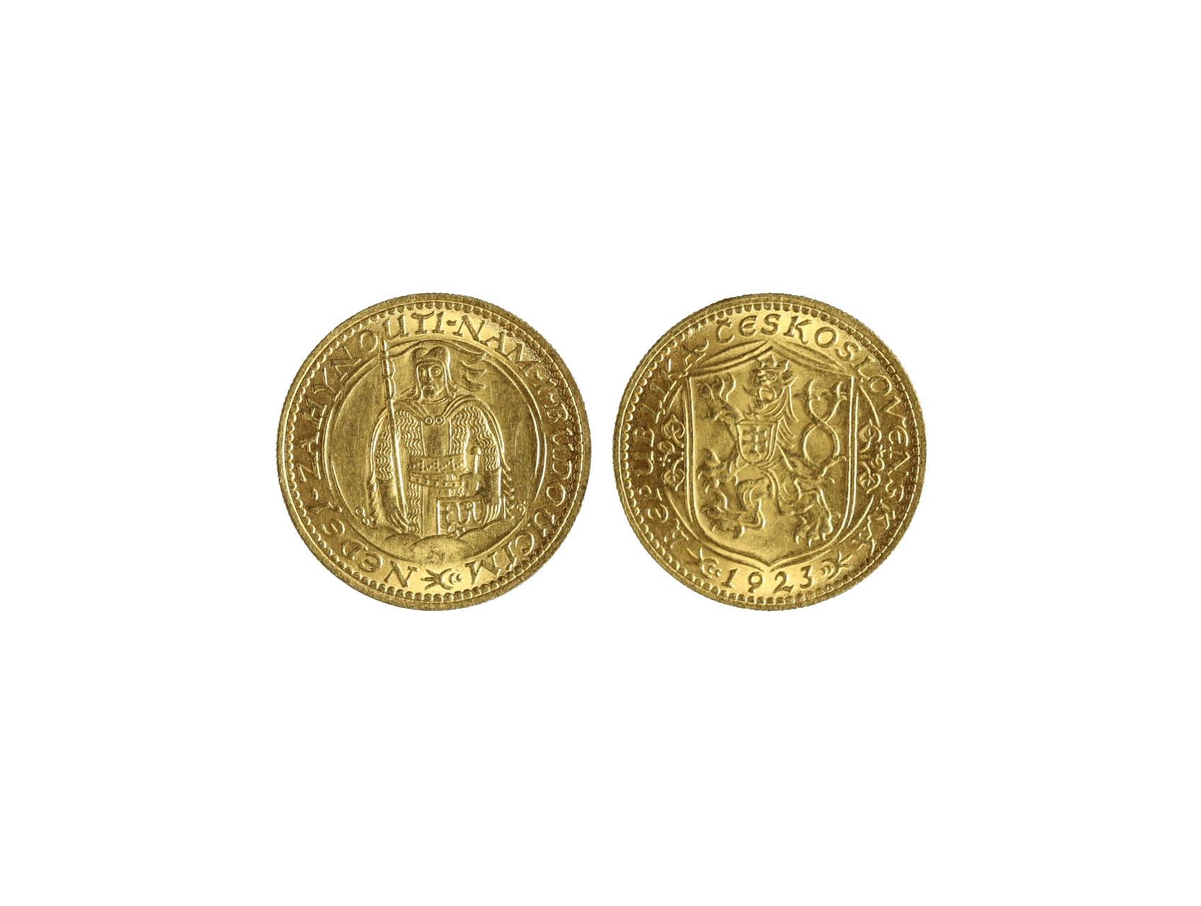 Československo 1918-1939 - Dukát 1923, 3.49g, 986/1000, raženo 61861 ks, N16