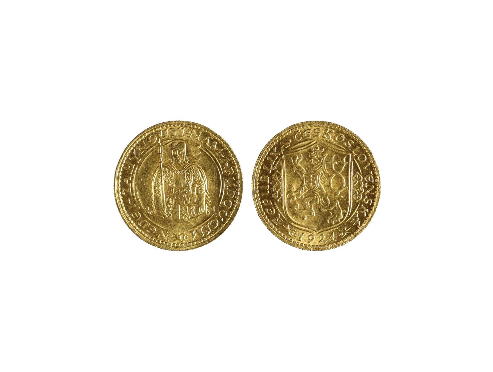 Československo 1918-1939 - Dukát 1924, 3.491 g, 986/1000, raženo 32814 ks, N16