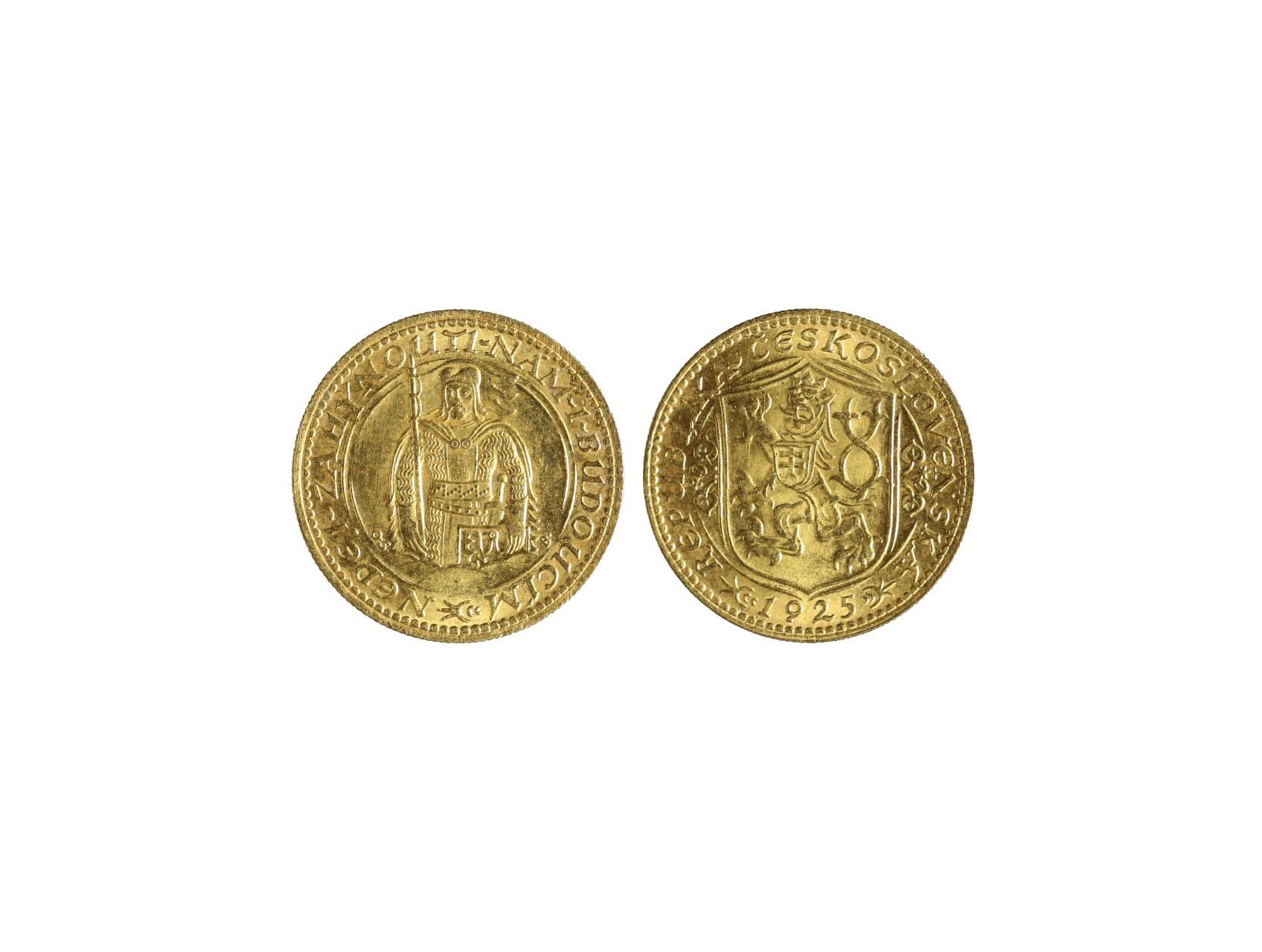 Československo 1918-1939 - Dukát 1925, 3.49g, 986/1000, raženo 66279 ks, N16