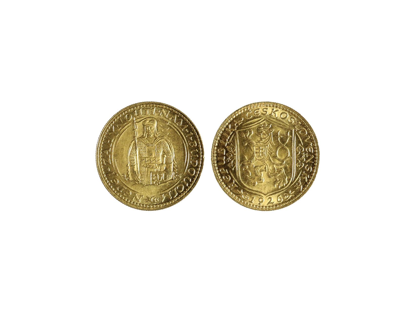 Československo 1918-1939 - Dukát 1926, 3.491 g, 986/1000, raženo 58669 ks, N16