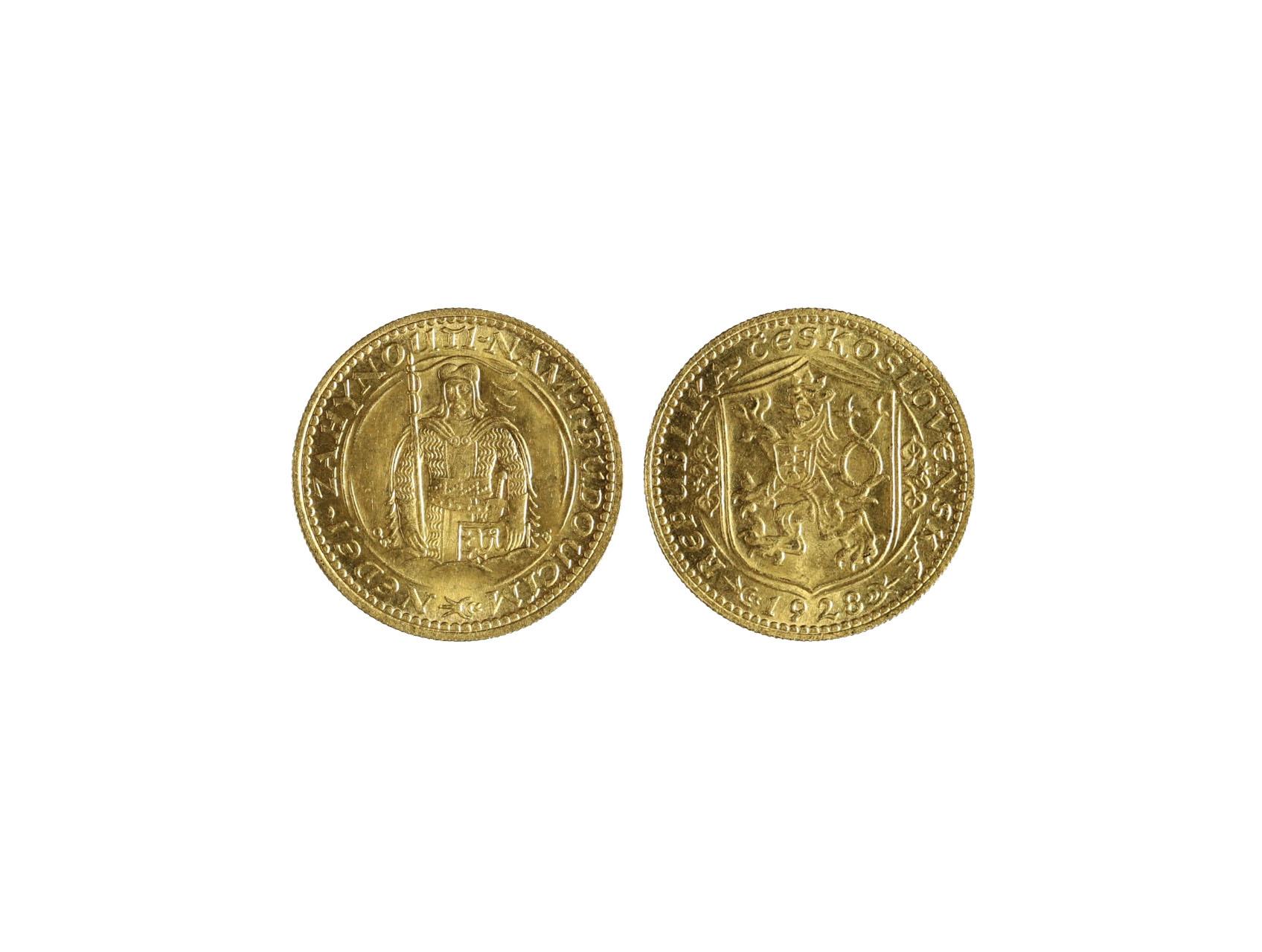 Československo 1918-1939 - Dukát 1928, 3.491 g, 986/1000, raženo 18983 ks, N16