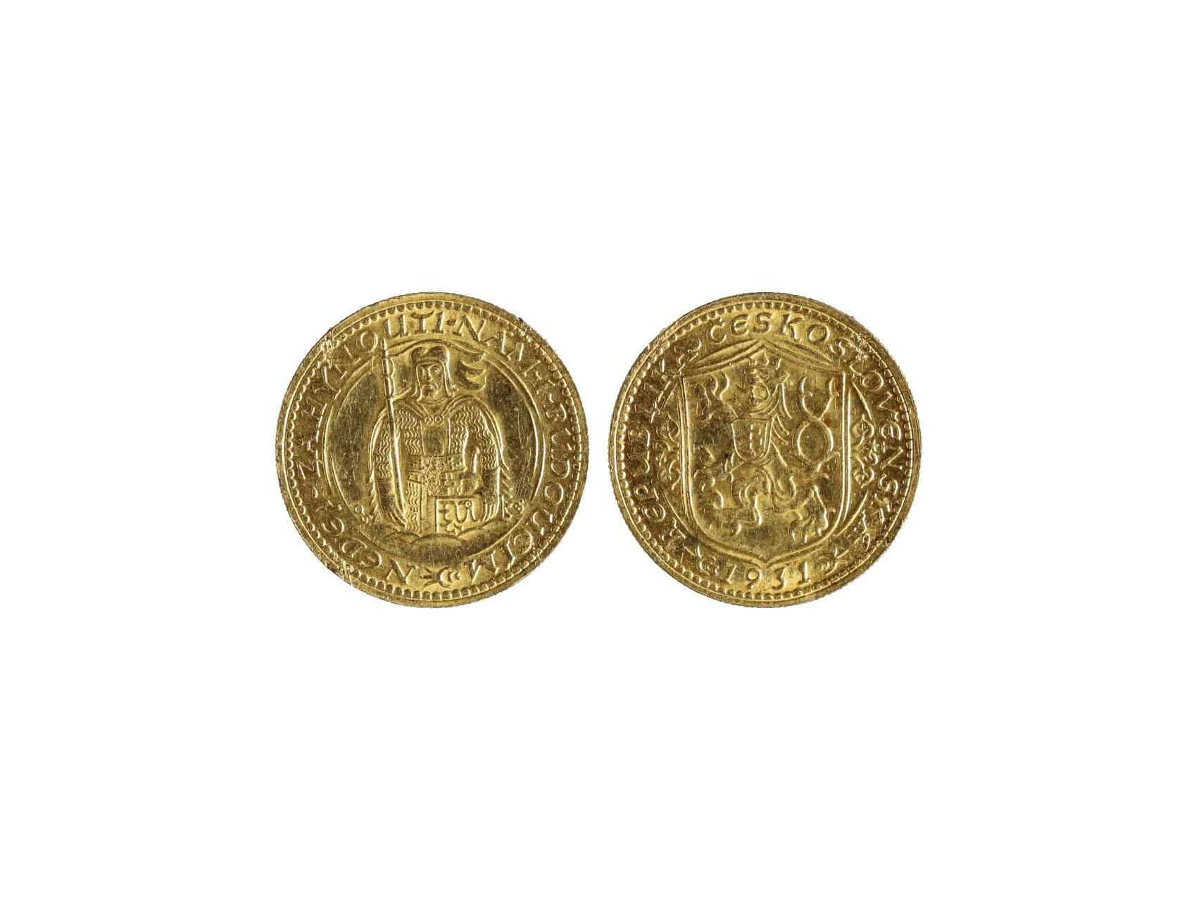 Československo 1918-1939 - Dukát 1931, 3.491 g, 986/1000, raženo 43482 ks, N16