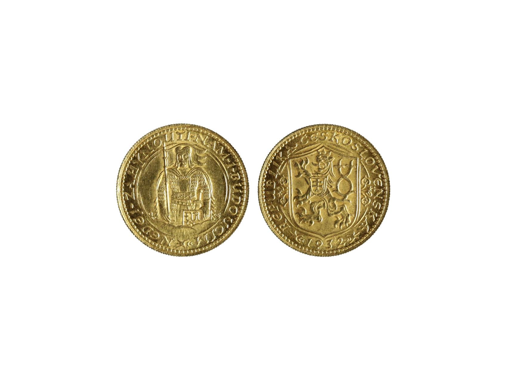 Československo 1918-1939 - Dukát 1932, 3.491 g, 986/1000, raženo 26617 ks, N16