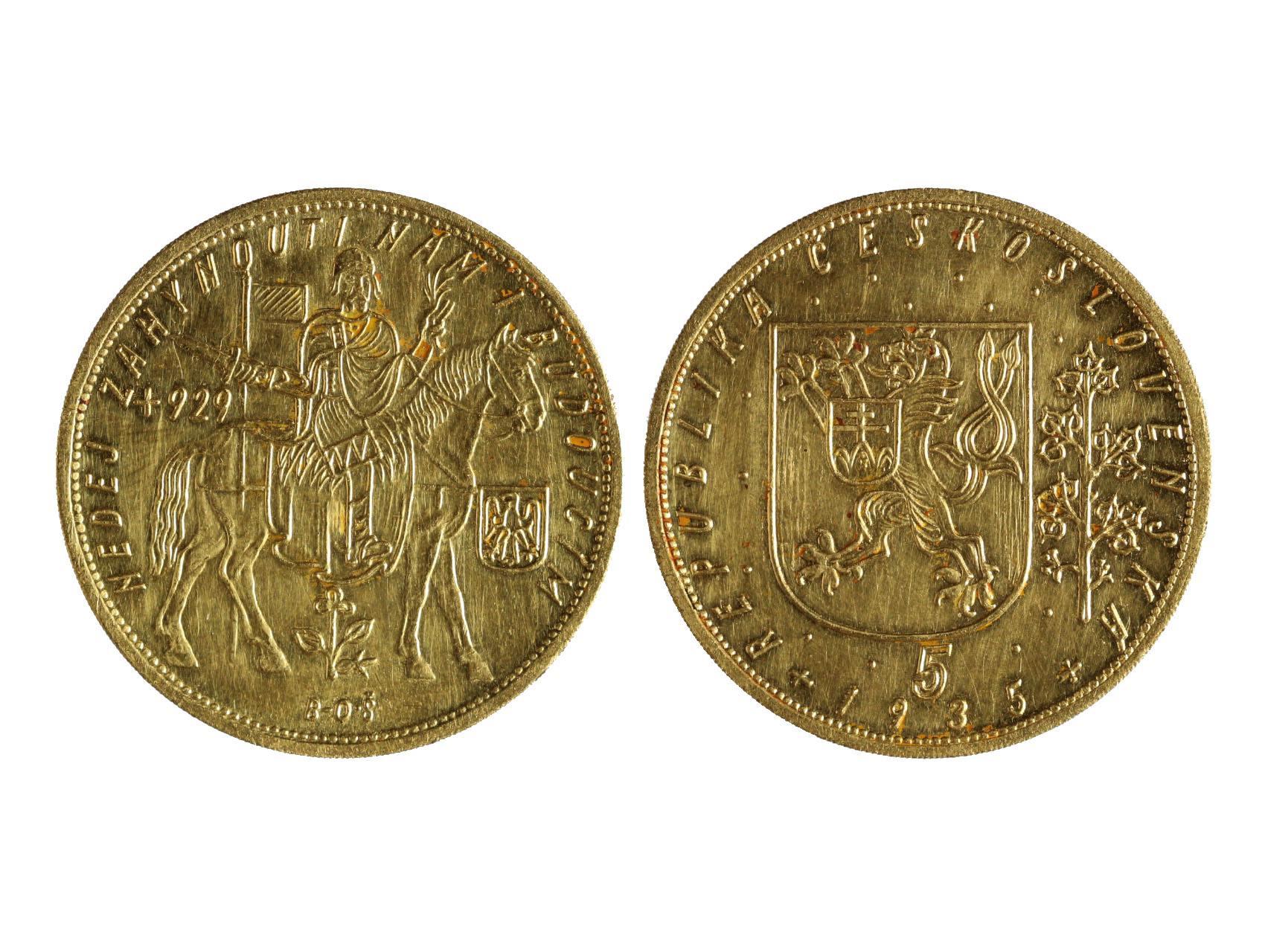 Československo 1918-1939 - 5 Dukát 1935, 17,455 g, 986/1000, raženo 1037 ks, N18