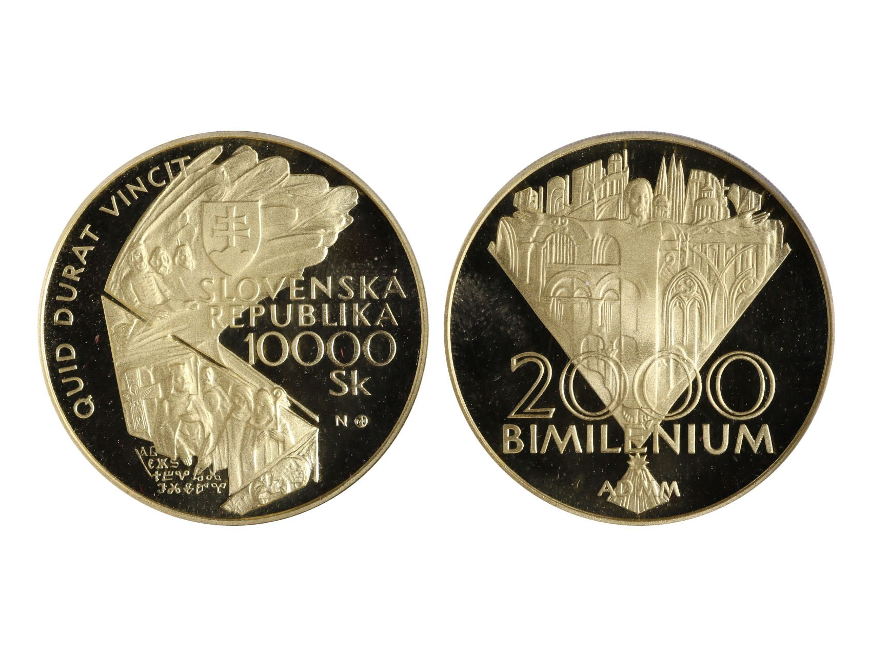 Slovenská Republika 1993 - 10000 Sk 2000 Bimilénium, etue, certifikát, N5