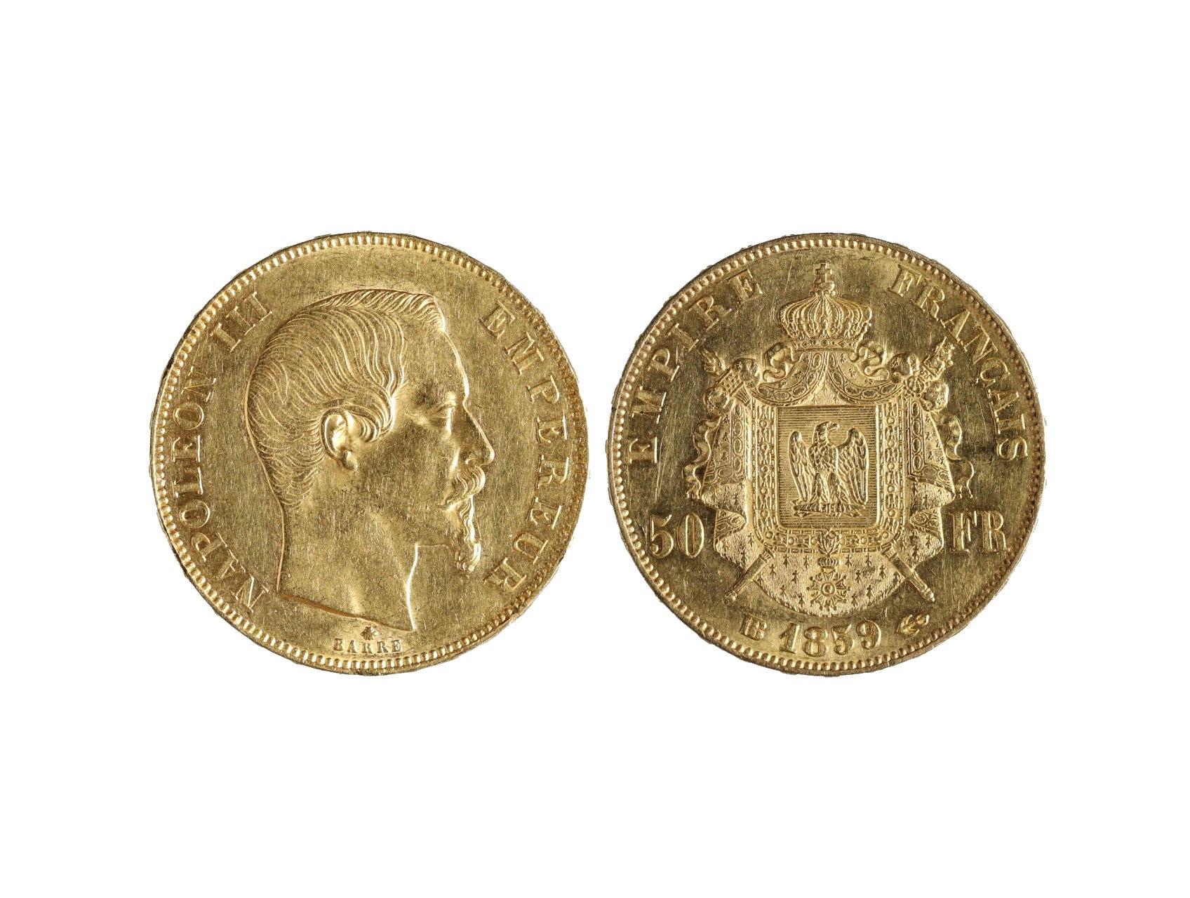 Francie, Napoleon III. - 50 Frank 1959 A, 16,129 g, Au 0,900