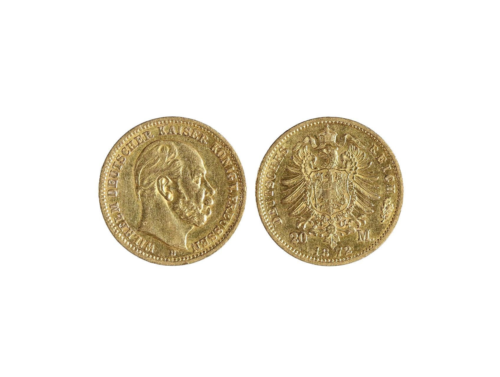 Německo-Prusko, Wilhelm I. 1861-1888 - 10 Marka 1872 A, KM.502
