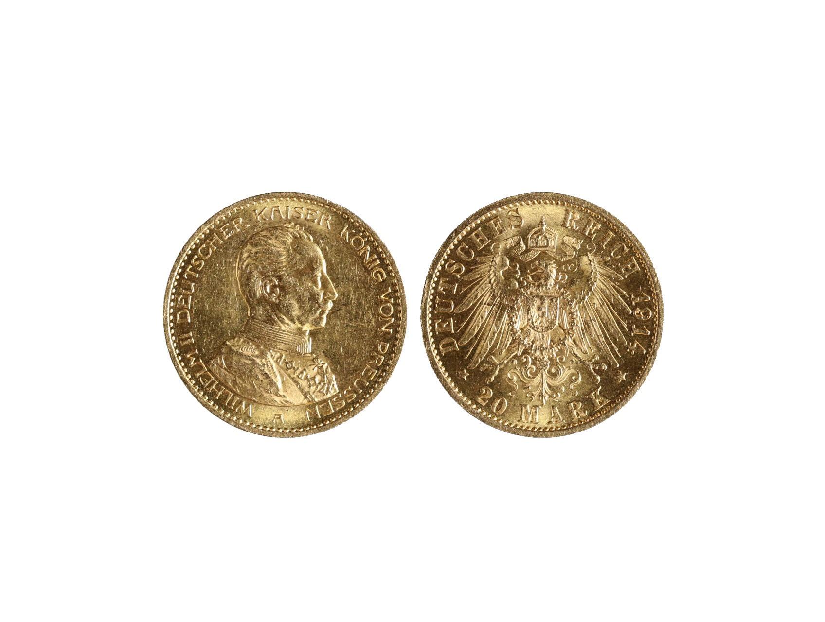Německo-Prusko, Wilhelm II. 1888-1918 - 20 Marka 1904 A