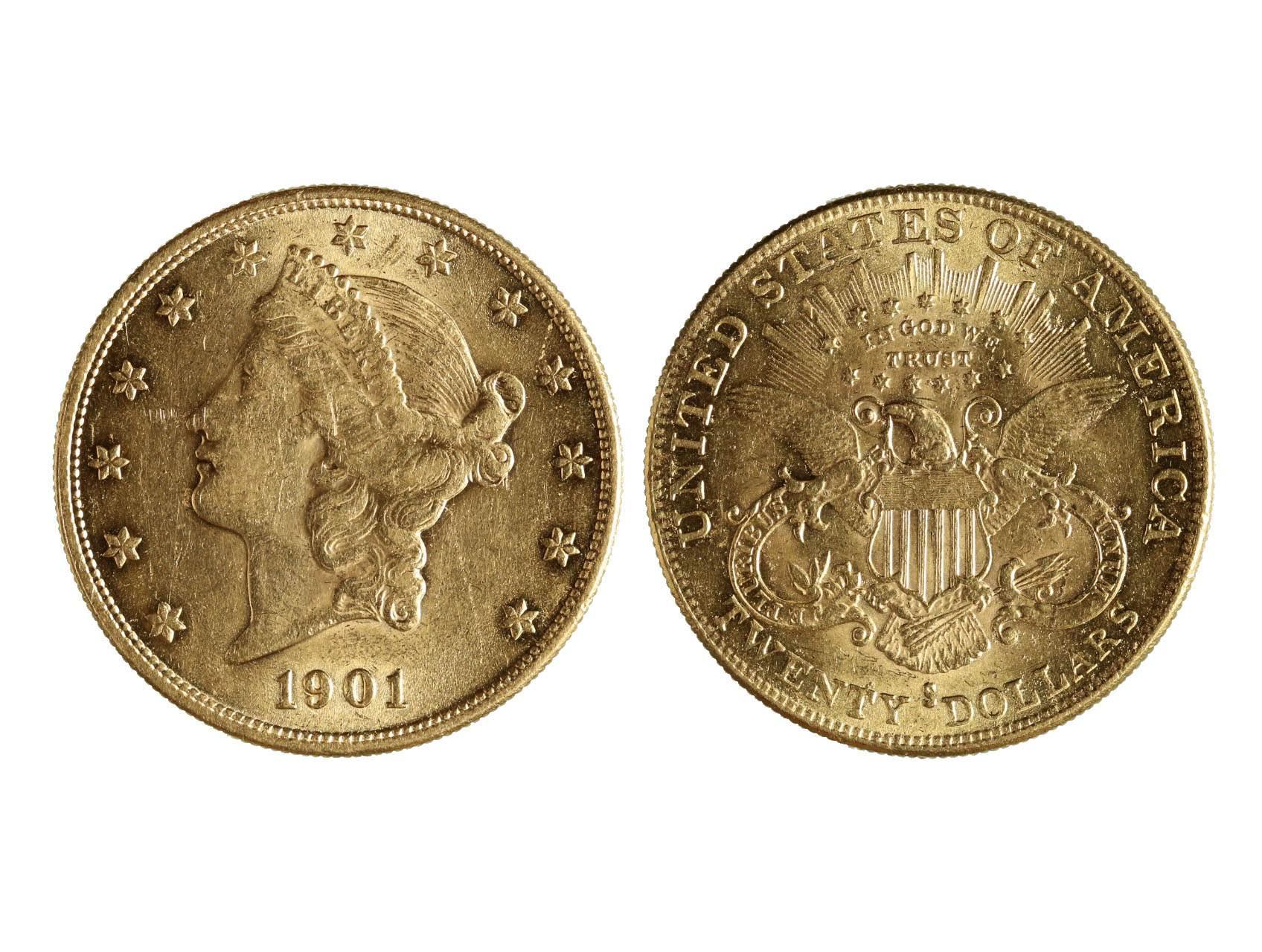 USA, 20 Dollar 1901 S, 33,436 g