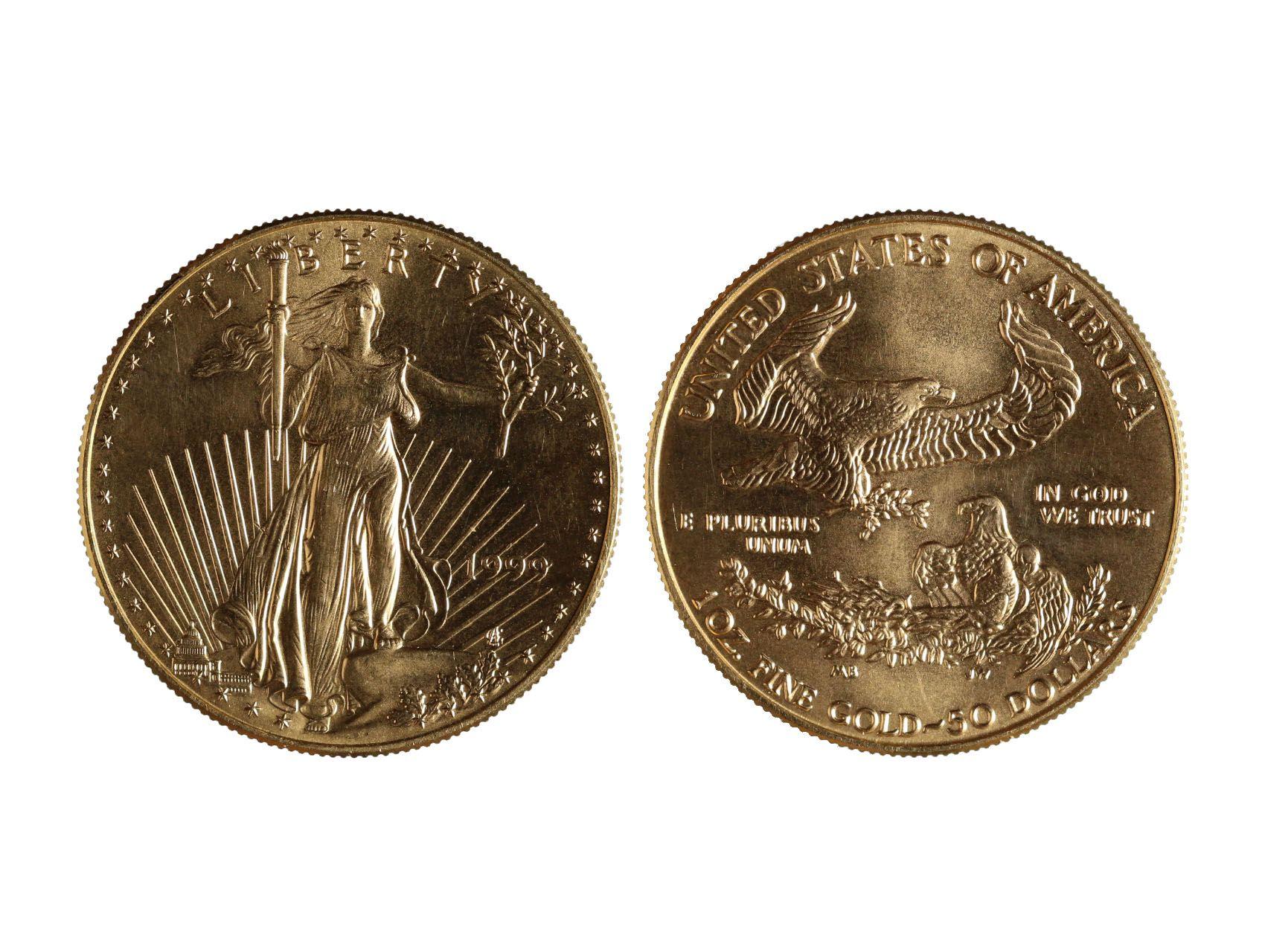USA, 50 Dollar 1999 Liberty, Au 0,916, 33,93g, KM 219