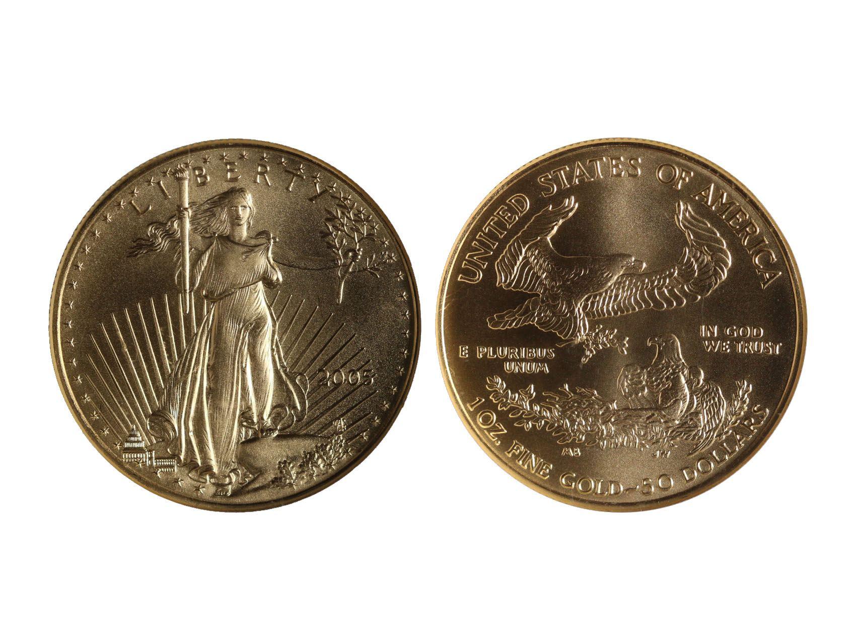 USA, 50 Dollar 2005 Liberty, Au 0,916, 33,93g, NGC - MS 70, KM 219