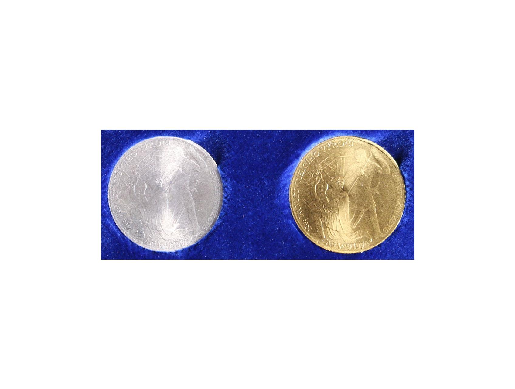 2017, Mincovňa Kremnica, sada medailí na 1000.výročí smrti sv. Václava, Au 0,986, 10g, Ag 0,999, 10g, náklad 120 ks, číslované certifikáty, tato sada má číslo
