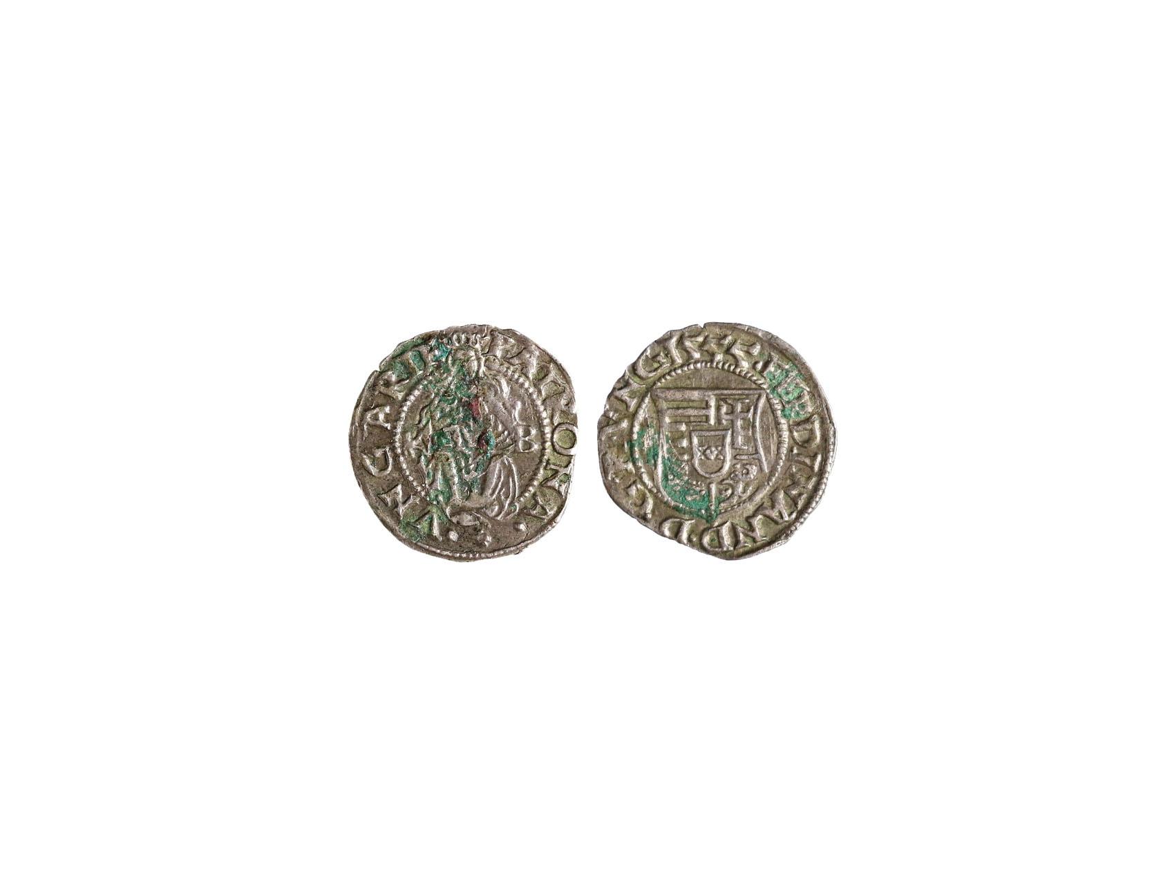 Ferdinand I. 1526-1564 - Denár 1555 KB, Huszár 935