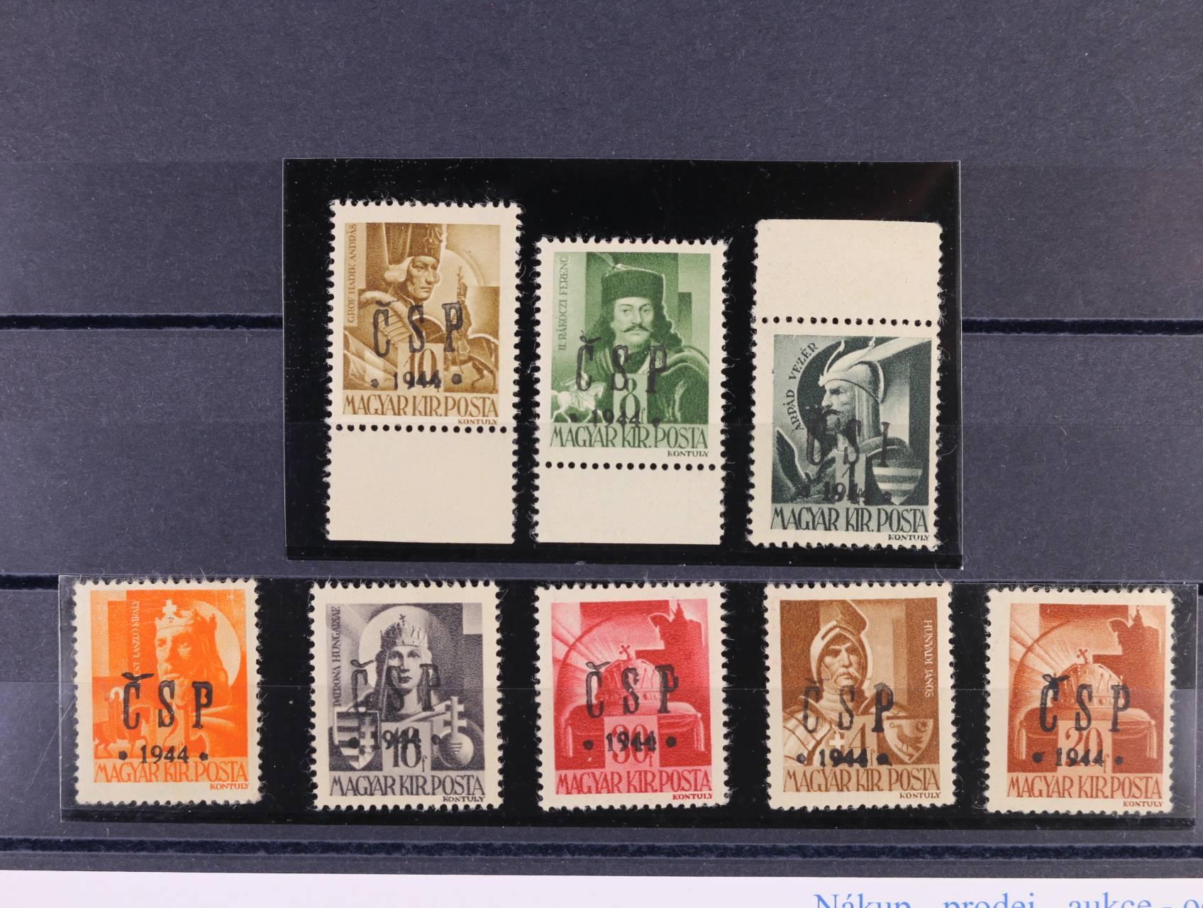 Chust - zn. RV 174 - 5, 177, 179, 181, 183 - 4, 186, kat. cena 1100 Kč