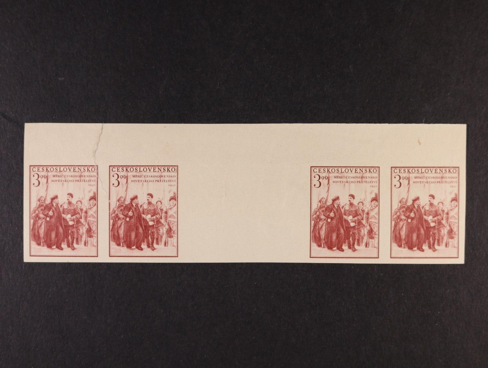 zn. č. 621 - čtyřzn. vodorovné meziarší s horním okrajem, vlevo přes první zn. natržené, zajímavé, k prohlédnutí