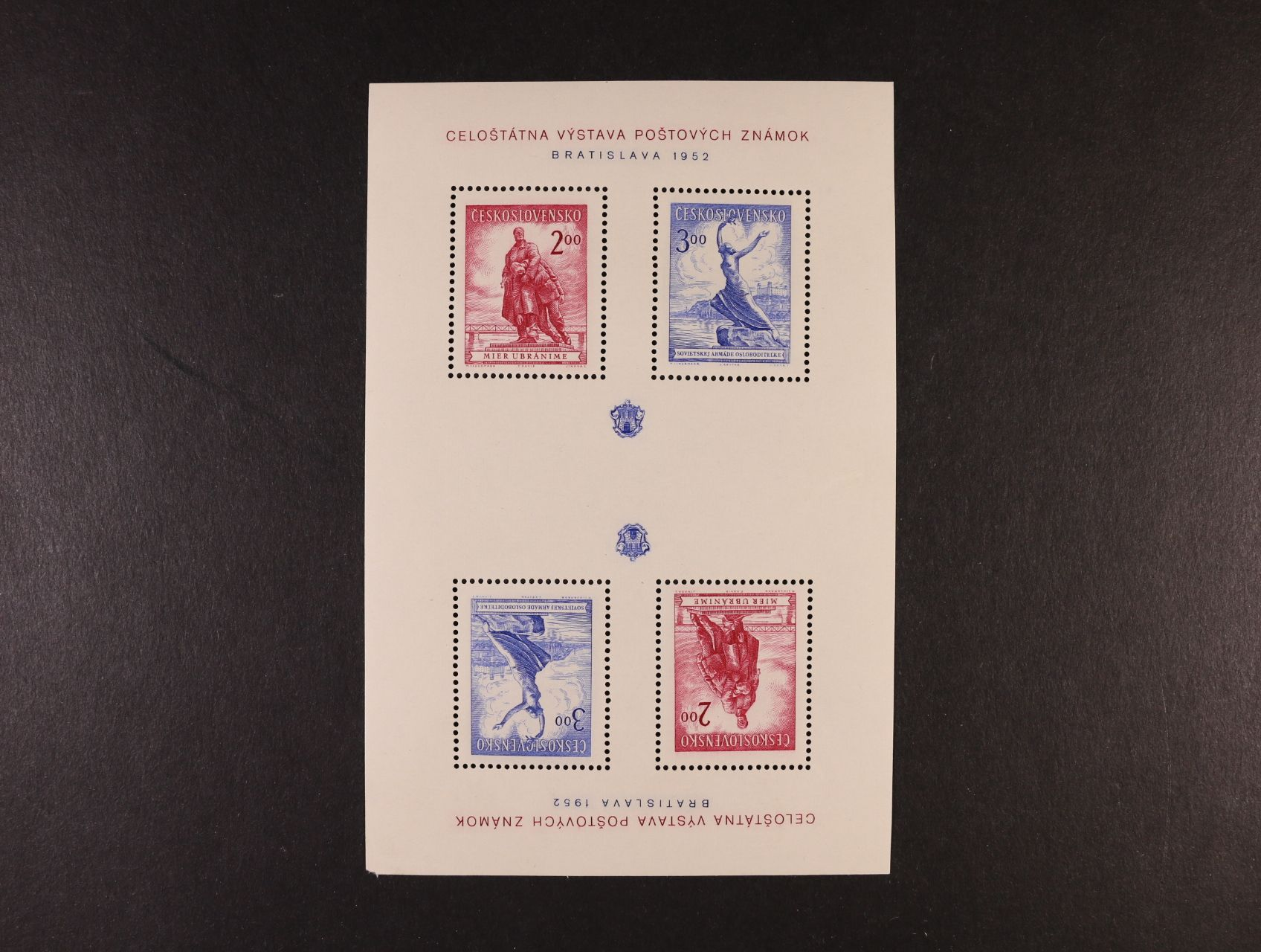 A č. 691 - 2 ve dvojici z nerozříznutých TL, s kompletním tiskem obou aršíků