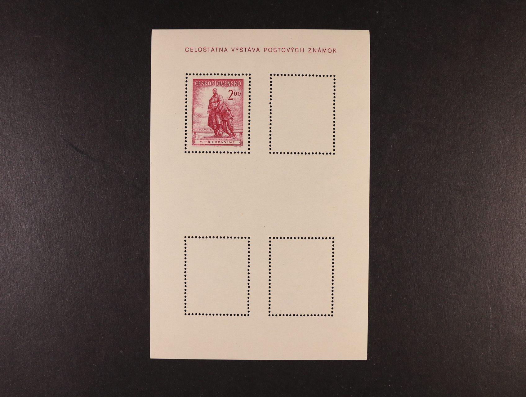 A č. 691-2 ve dvojici z nerozříznutých TL, tisk jen červenou barvou na horním aršíku, protichůdný aršík bez barvy