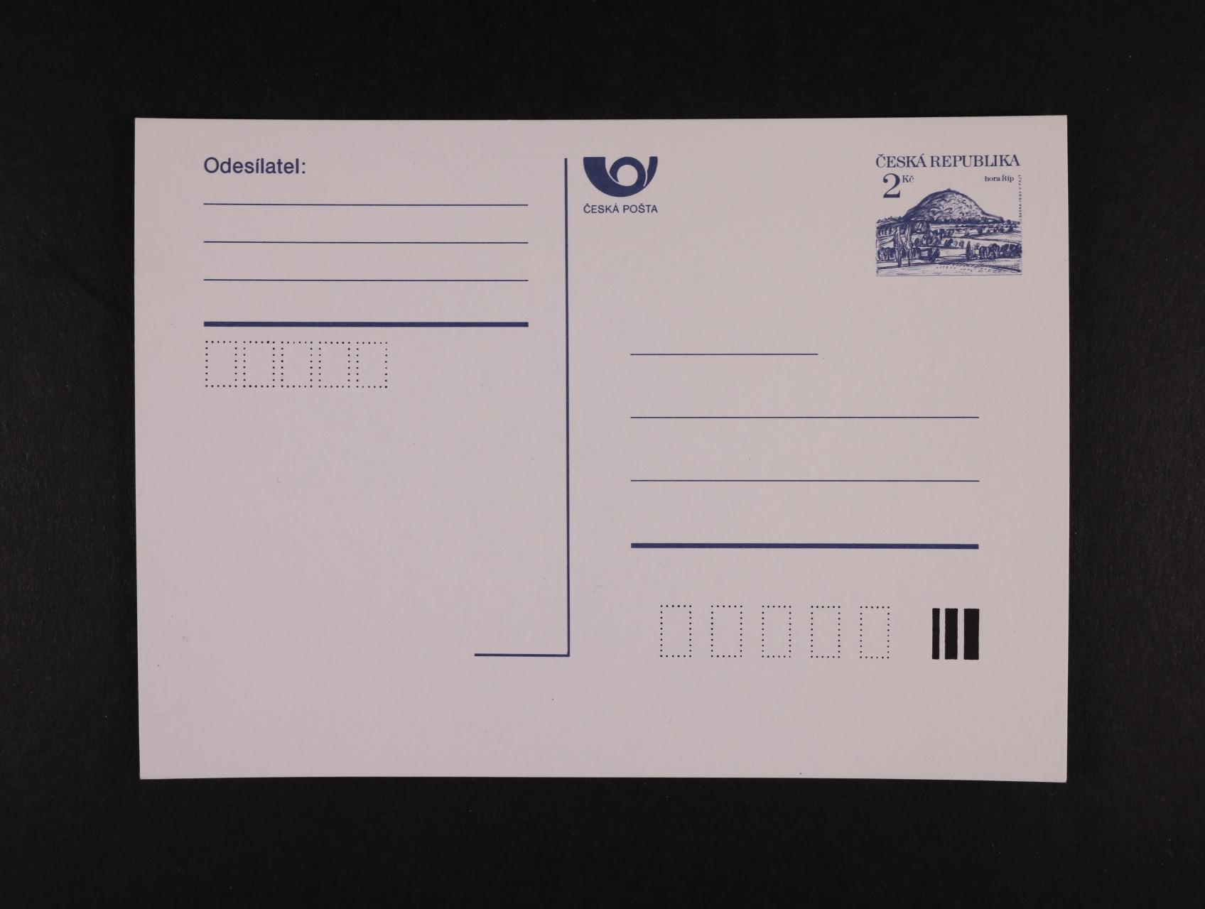CDV č. 3 B, nepoužitá, kat. cena 2000 Kč