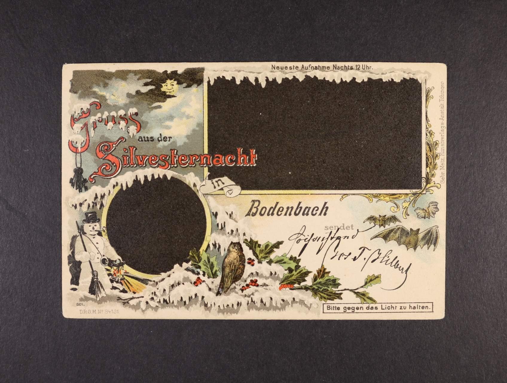 Bodenbach - Podmokly - bar. litograf. koláž