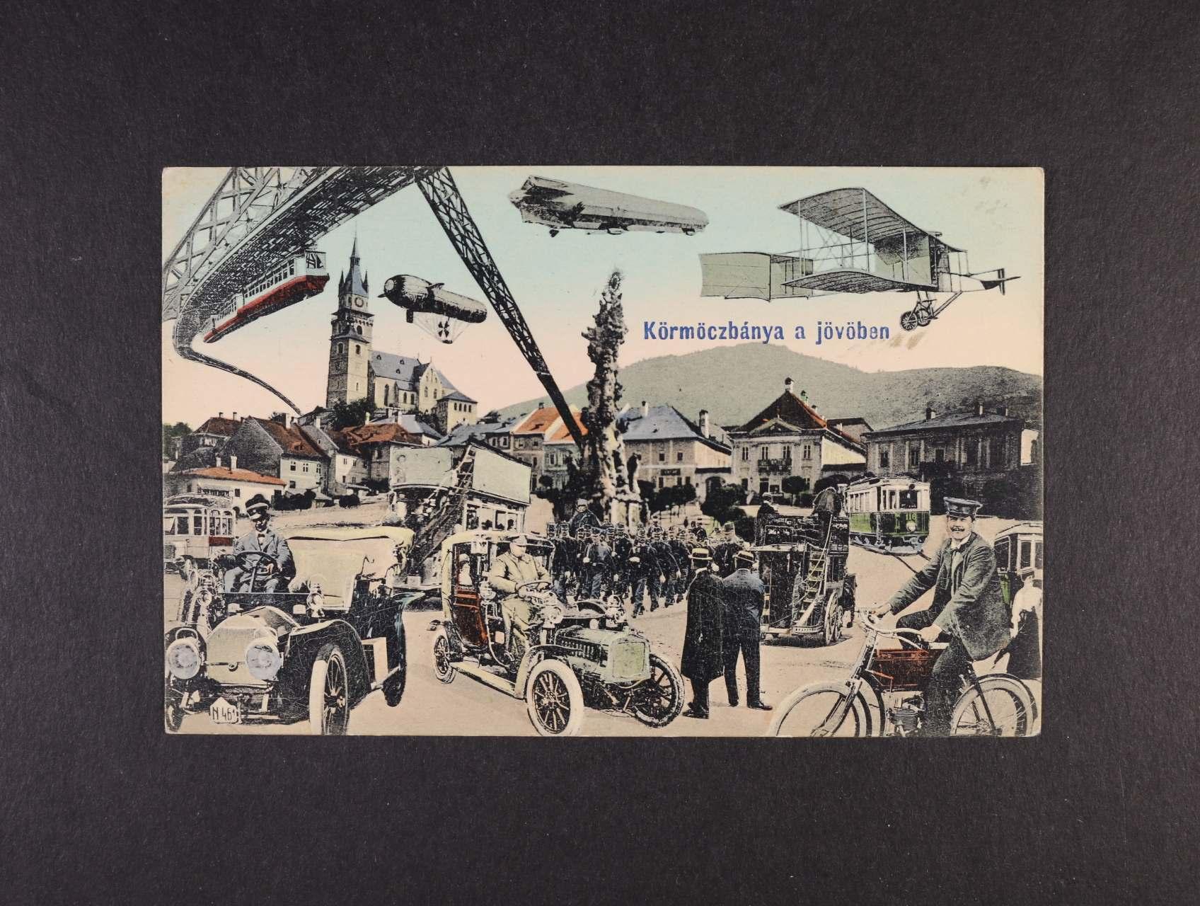 Kremnica - bar. pohlednice, použitá 1913, velmi dobrá kvalita